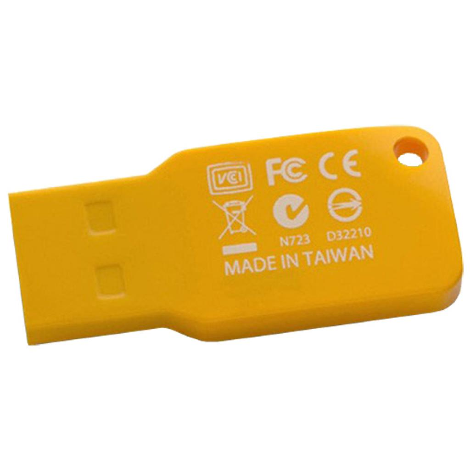 USB флеш накопитель TOSHIBA 8GB Mikawa Yellow USB 2.0 (THN-U201Y0080M4) изображение 2