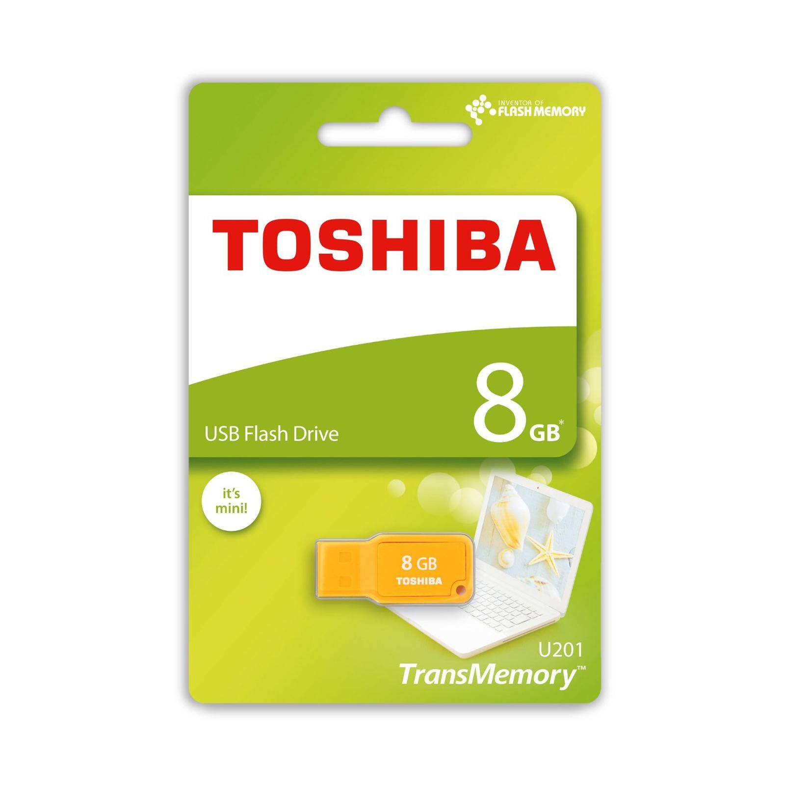 USB флеш накопитель TOSHIBA 8GB Mikawa Yellow USB 2.0 (THN-U201Y0080M4) изображение 3