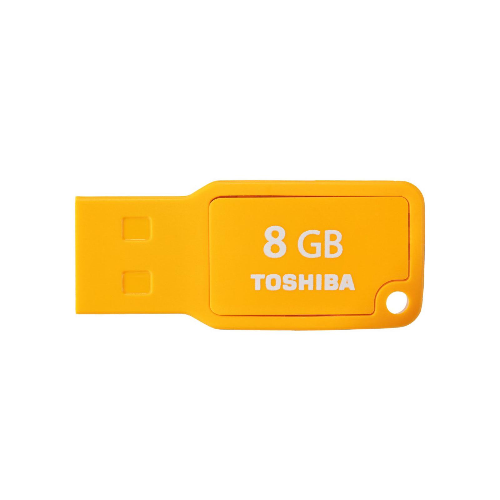 USB флеш накопитель TOSHIBA 8GB Mikawa Yellow USB 2.0 (THN-U201Y0080M4)