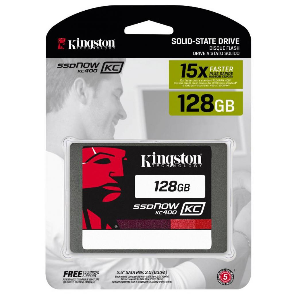 "Накопитель SSD 2.5"" 128GB Kingston (SKC400S37/128G) изображение 3"