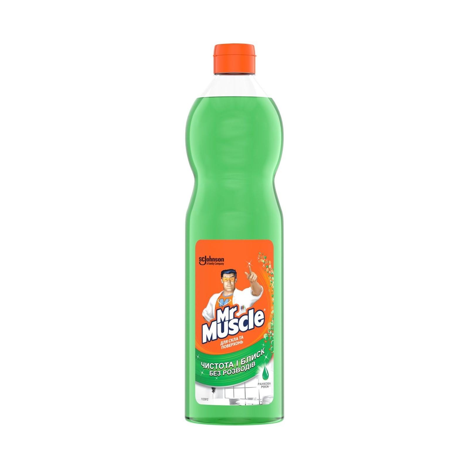 Моющая жидкость для уборки Мистер Мускул для стекол с нашатырным спиртом сменный блок 500 мл (4823002000283)