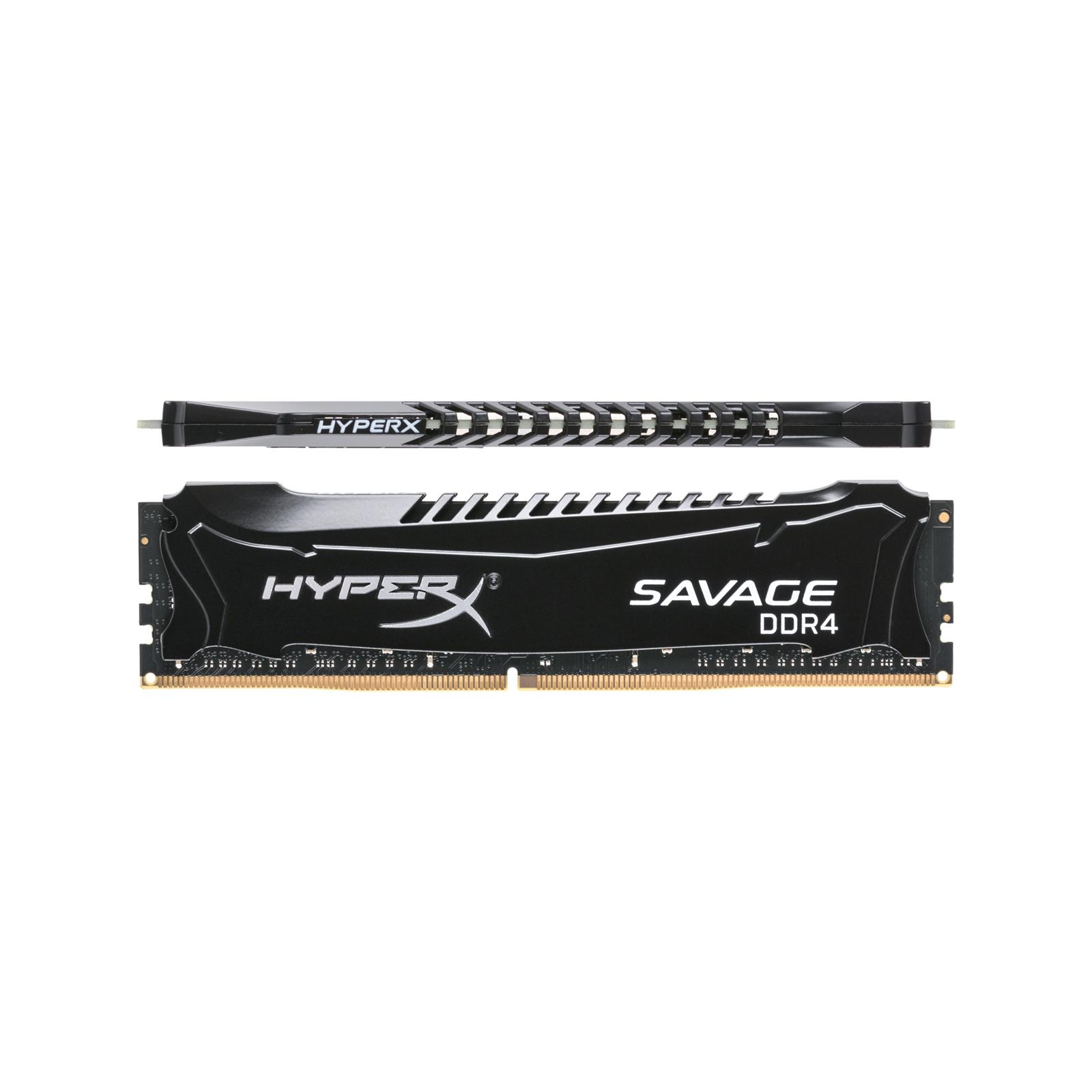 Модуль памяти для компьютера DDR4 8GB 2666 MHz HyperX Savage Black Kingston (HX426C13SB2/8) изображение 4