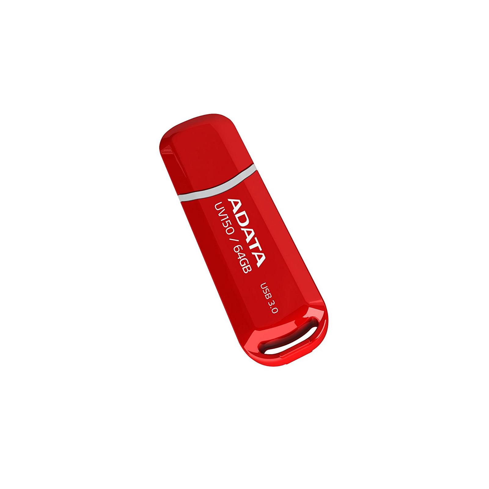 USB флеш накопитель ADATA 64GB UV150 Black USB 3.0 (AUV150-64G-RBK) изображение 2