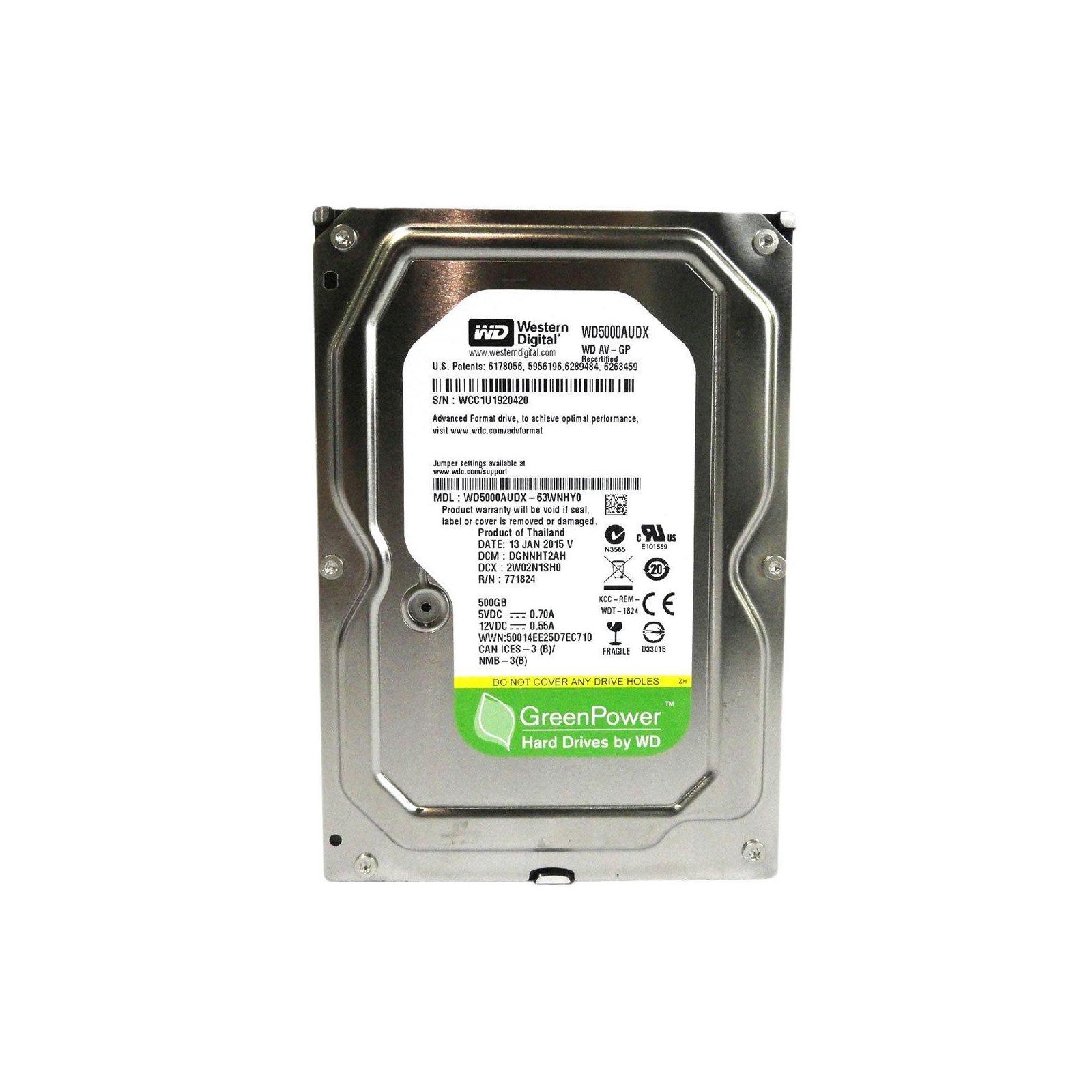 """Жесткий диск 3.5""""  500Gb WD (#WD5000AUDX-FR#)"""