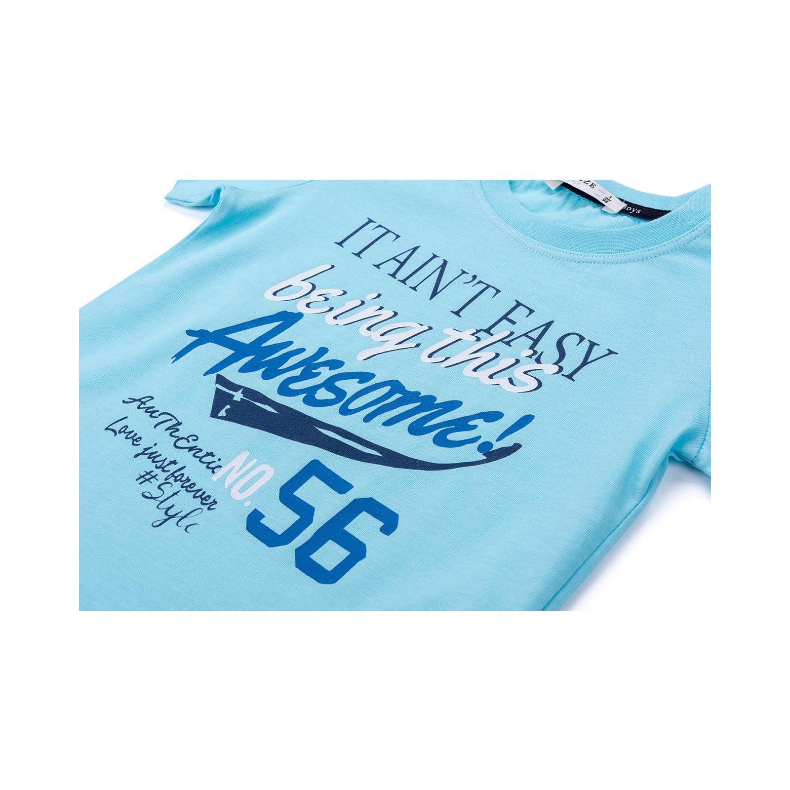 """Набор детской одежды Breeze """"AWESOME"""" (11061-110B-blue) изображение 9"""