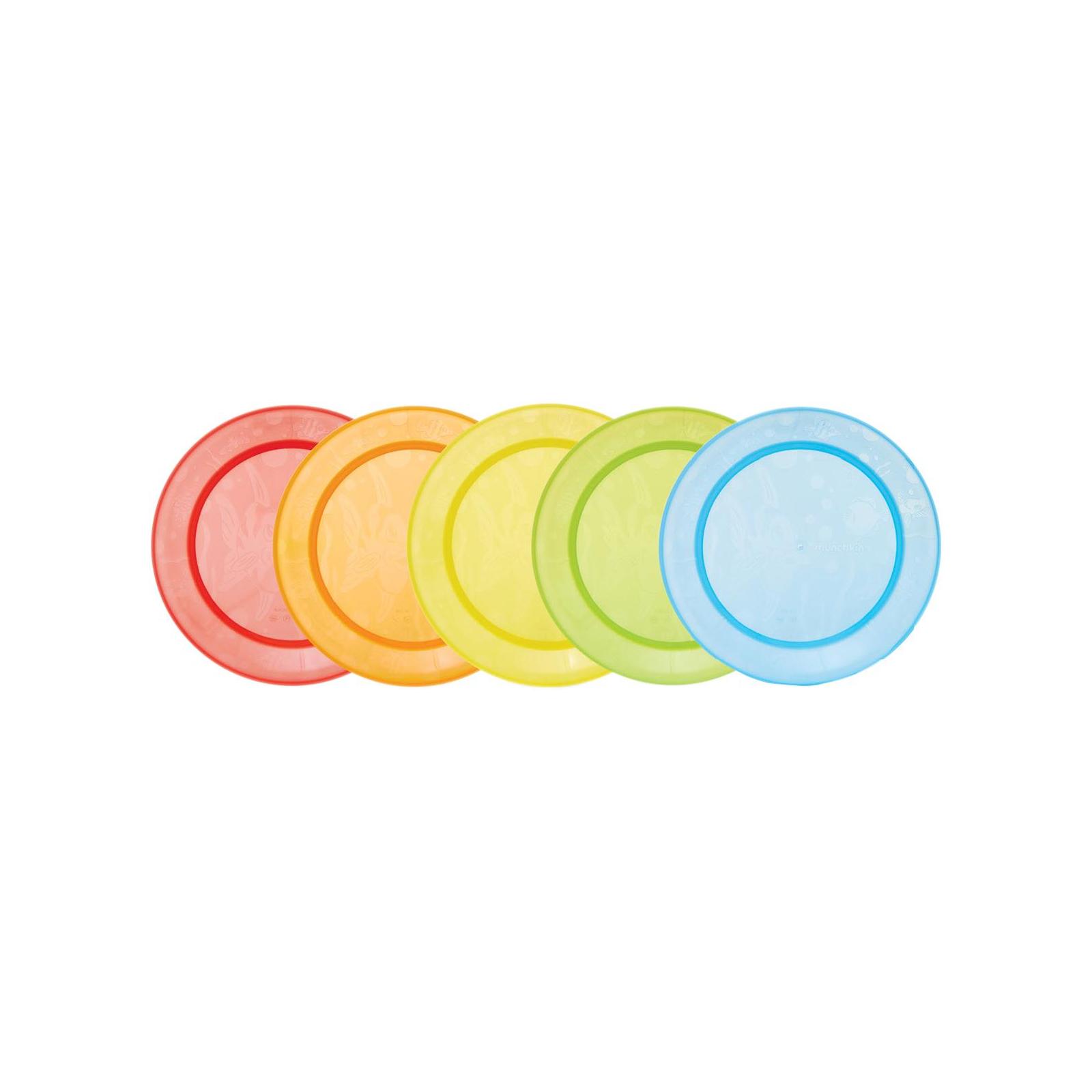 Набор детской посуды Munchkin тарелки разноцветные, 5 шт. (01139001)