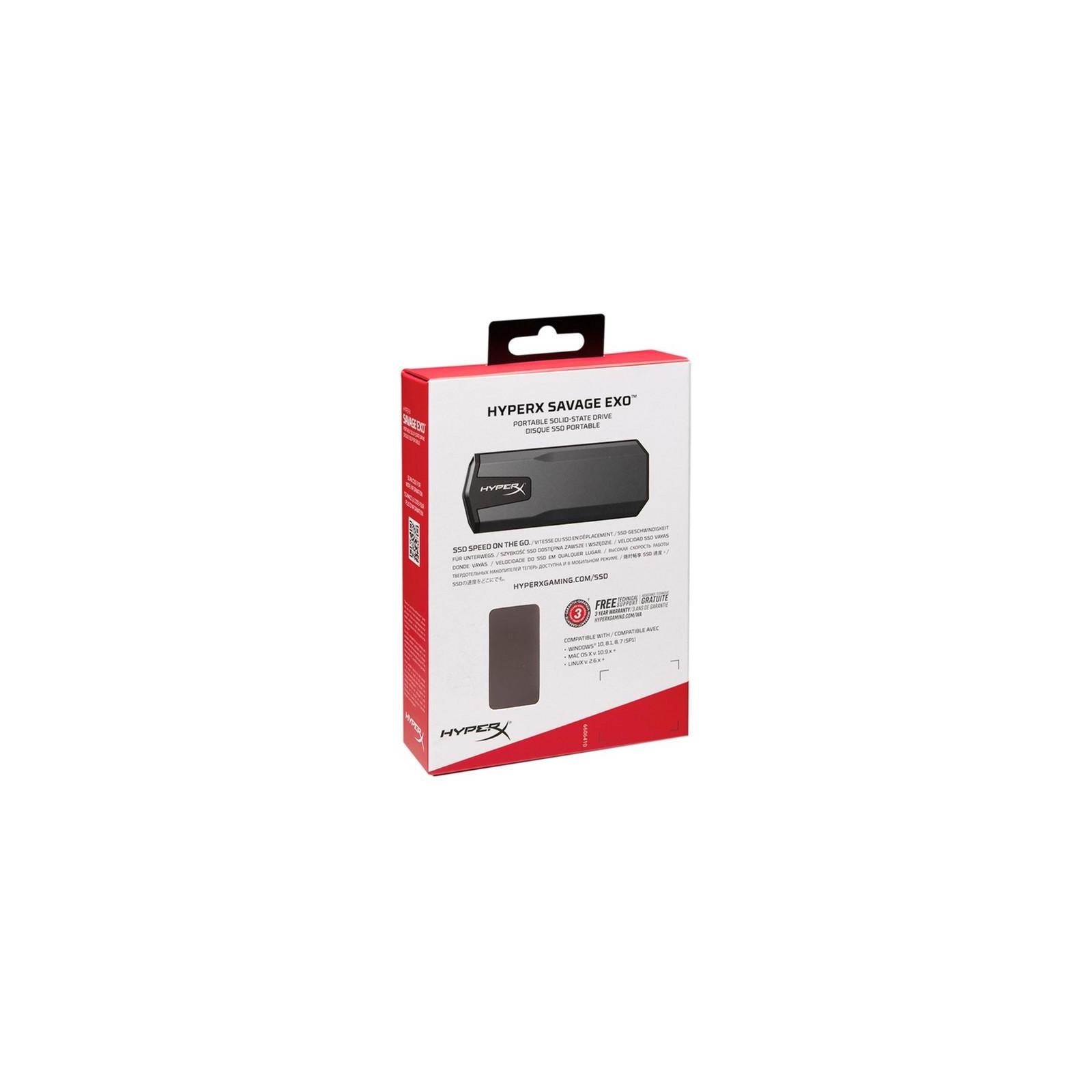 Накопичувач SSD USB 3.1 480GB HyperX (SHSX100/480G) зображення 6