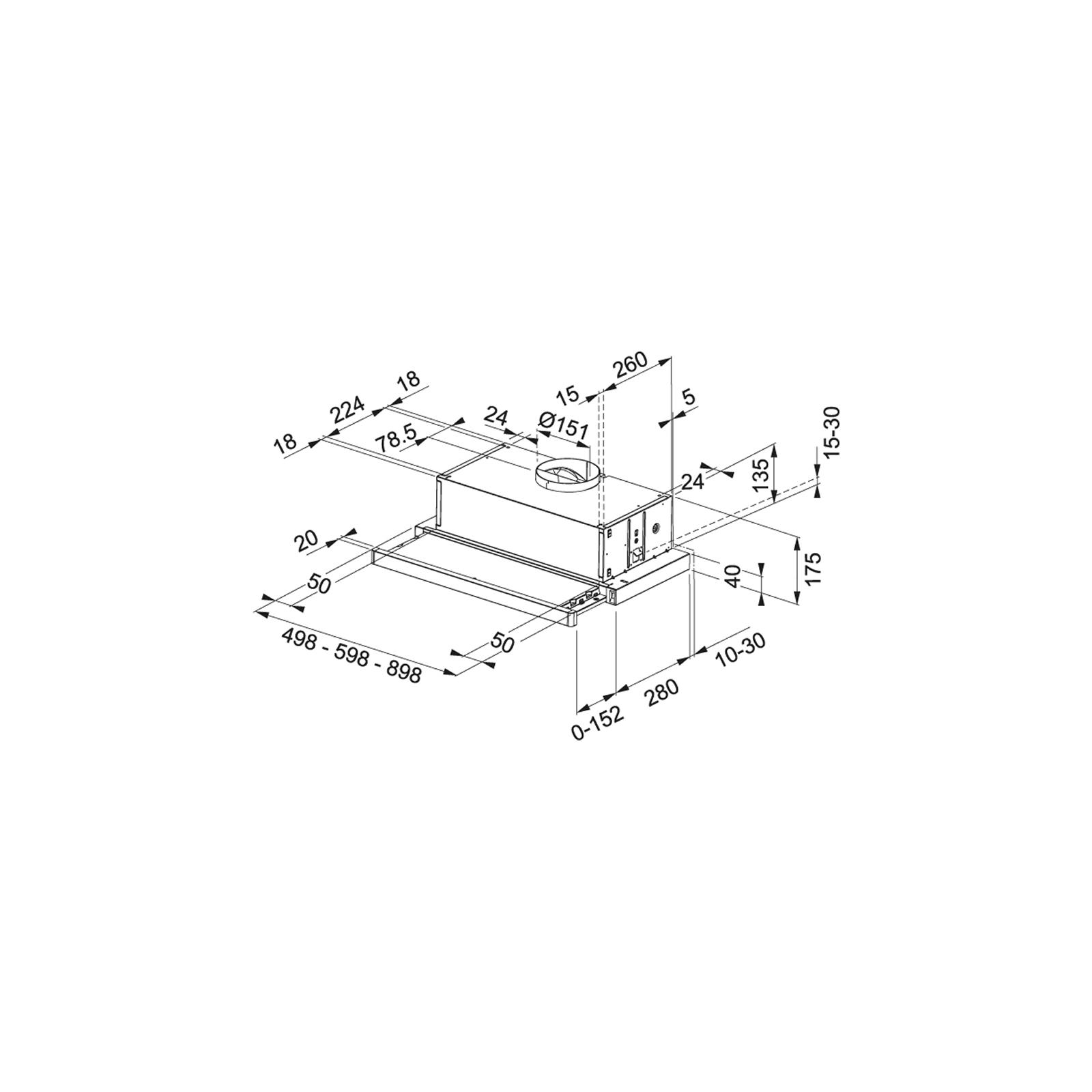 Вытяжка кухонная Franke Flexa FTC 532L WH (315.0547.795) изображение 2