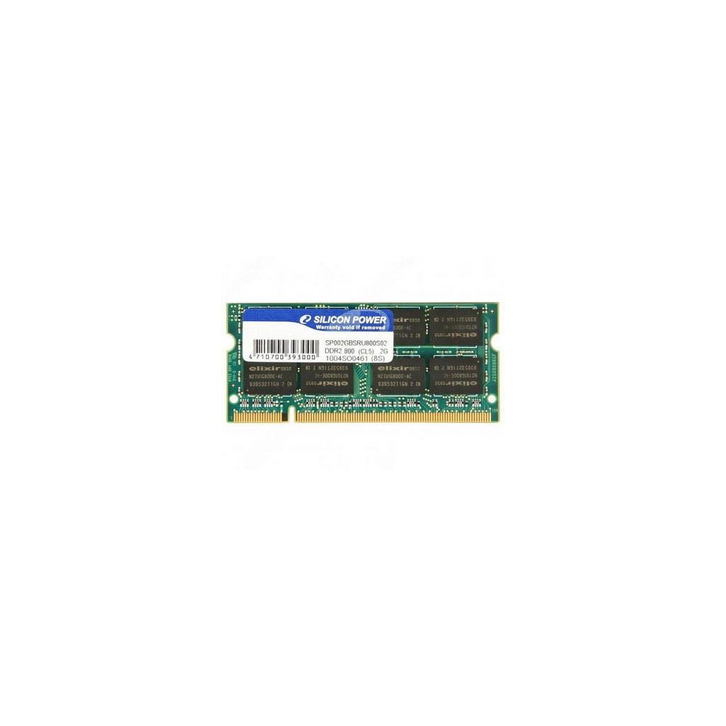 Модуль памяти для ноутбука SoDIMM DDR2 2GB 800 MHz Silicon Power (SP002GBSRU800S02)