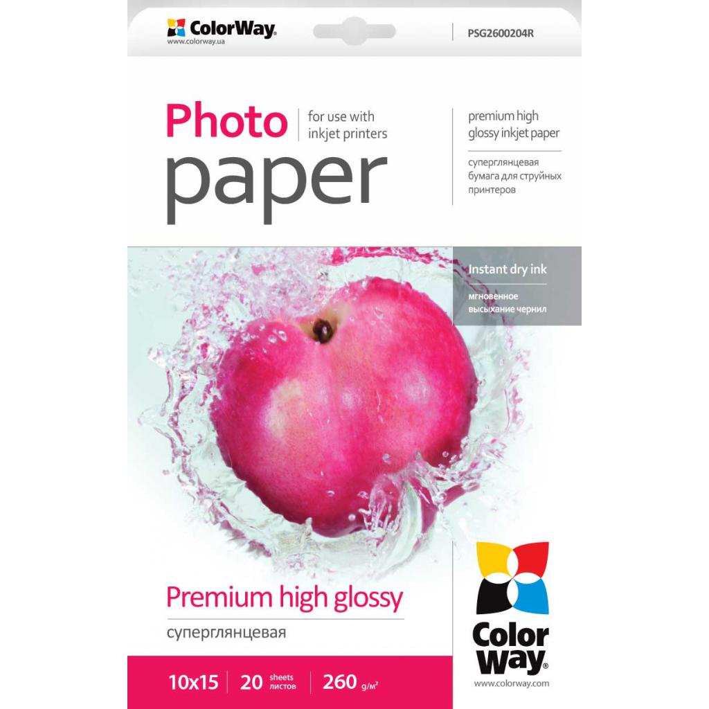 Бумага ColorWay 10x15 (ПГС260-20) (PSG2600204R)