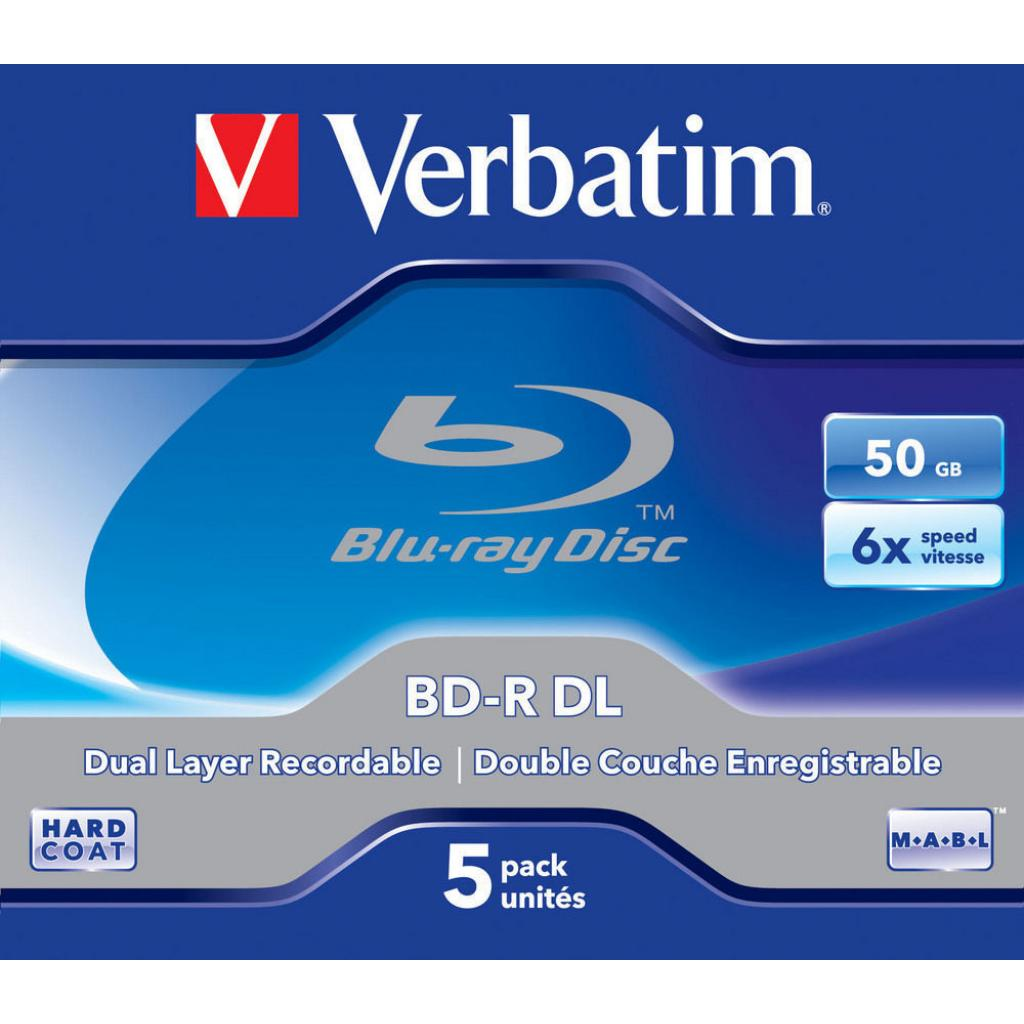 Диск BD Verbatim DL 50Gb 6x Jewel Case 5шт (43748) изображение 2