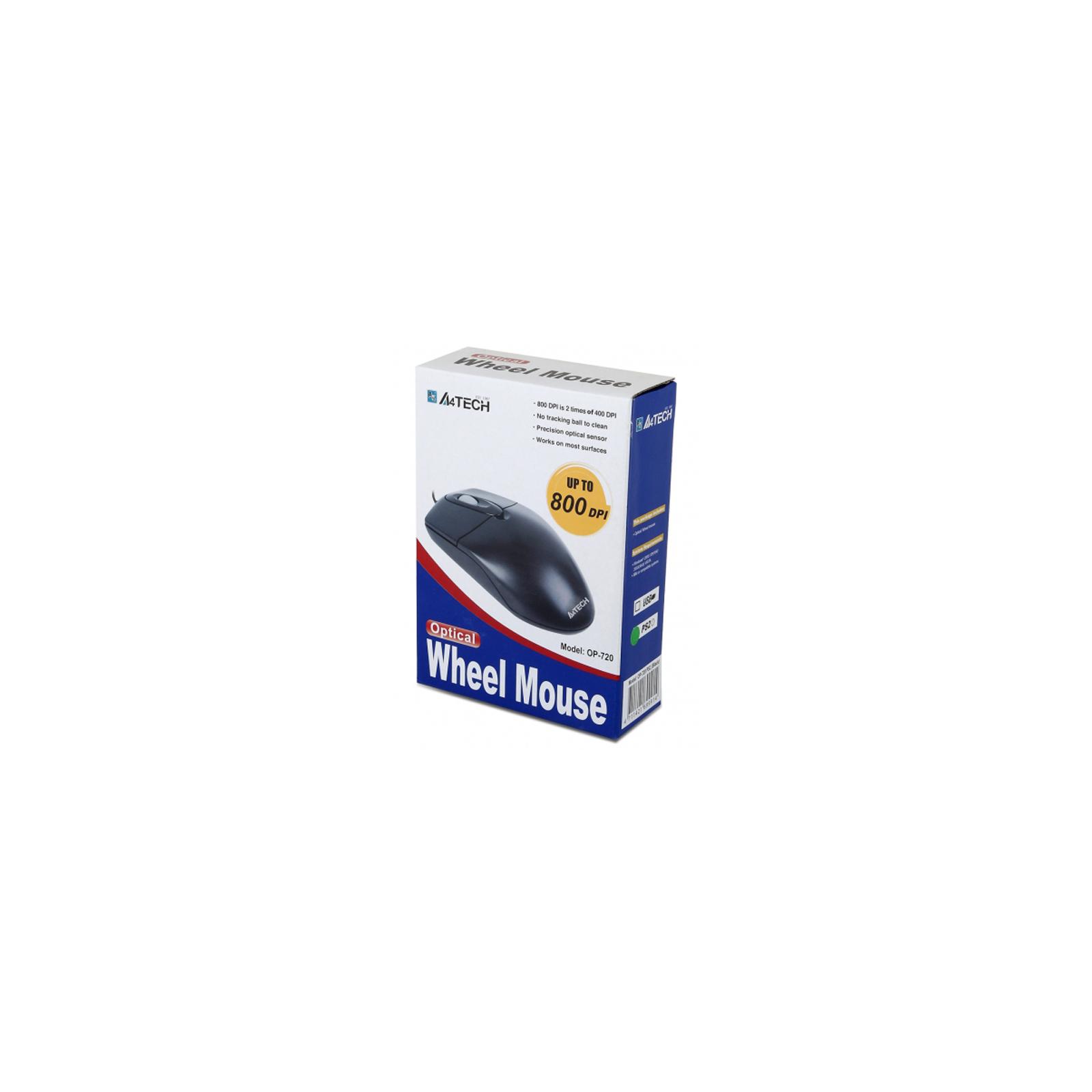 Мышка A4Tech OP-720 white-USB изображение 2