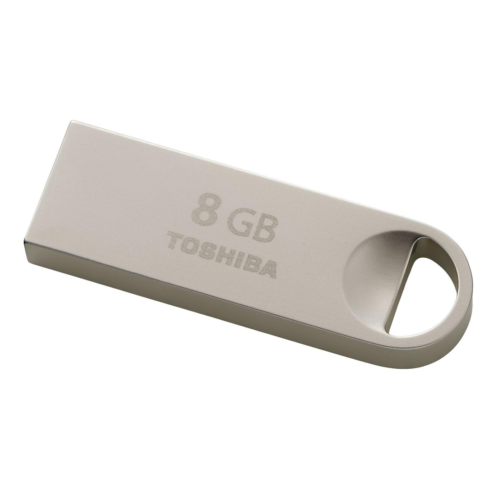 USB флеш накопитель TOSHIBA 8GB Owari Metal USB 2.0 (THN-U401S0080E4) изображение 3