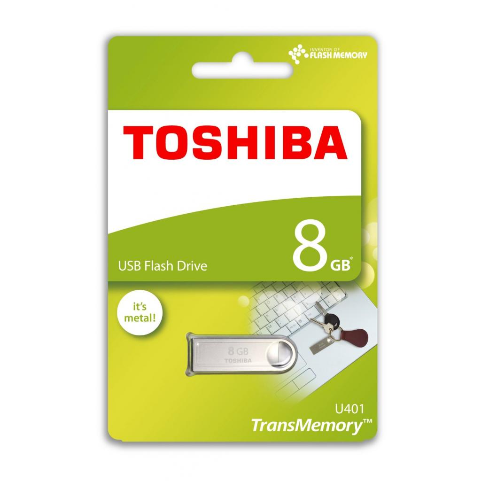 USB флеш накопитель TOSHIBA 8GB Owari Metal USB 2.0 (THN-U401S0080E4) изображение 5