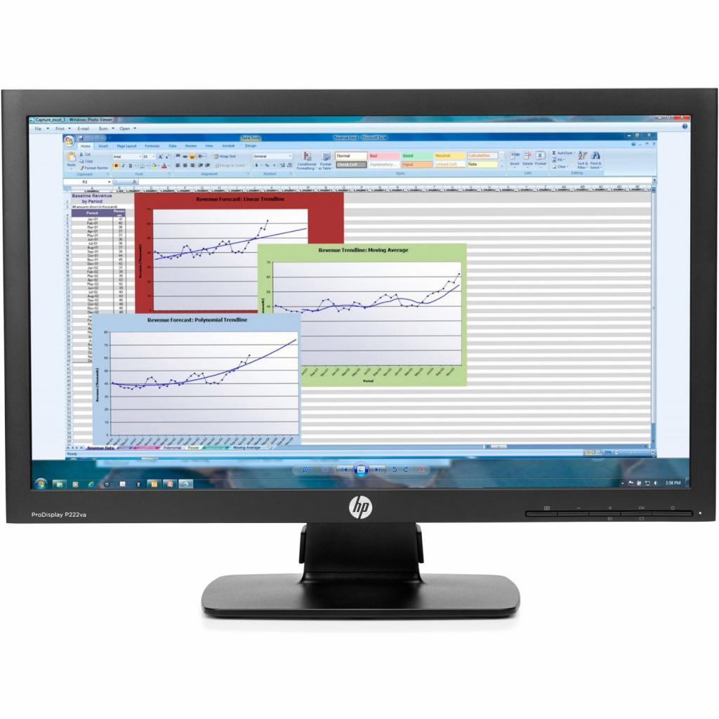 Монитор HP P222va (K7X30AA)