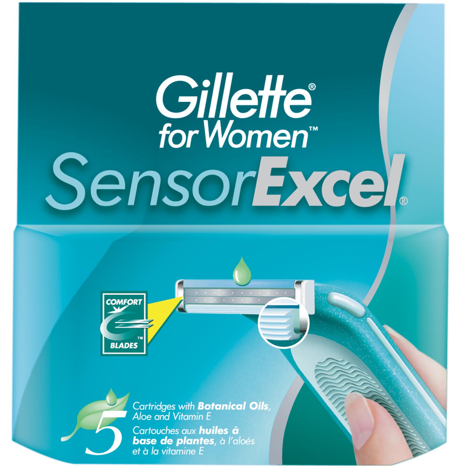 Сменные кассеты Venus для женщин Sensor Excel 5 шт (3014260244897)