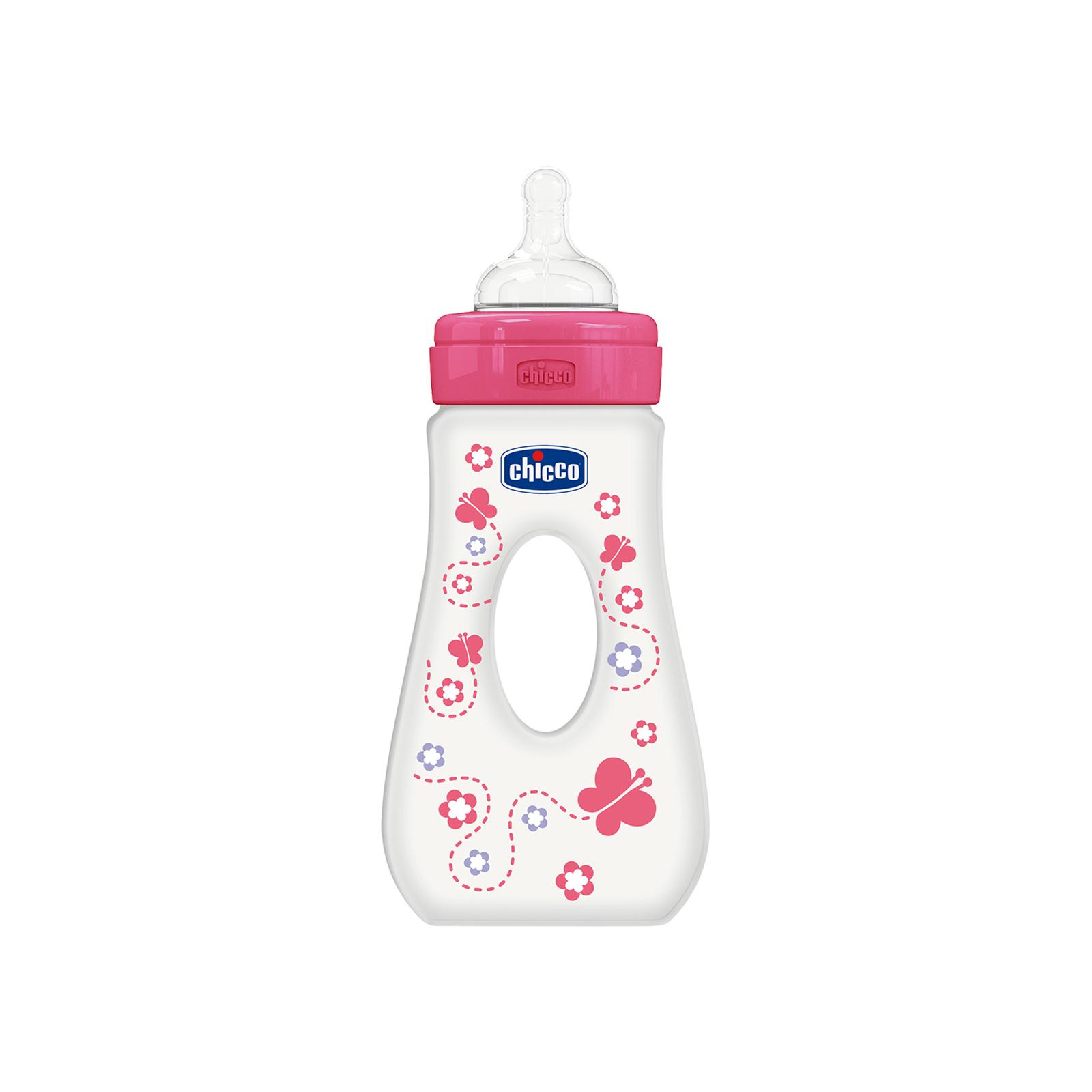 Бутылочка для кормления Chicco Travelling 240 мл с силиконовой соской 4 мес+ для девочек (75725.11)