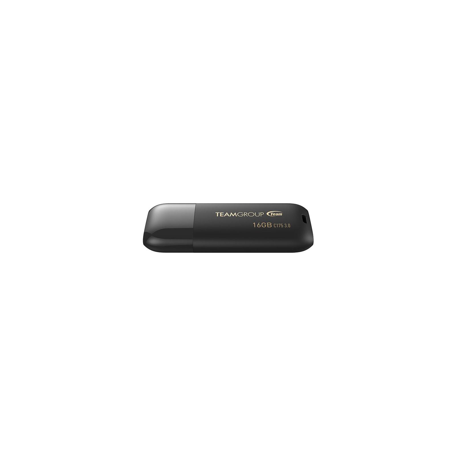 USB флеш накопитель Team 16GB C175 Pearl Black USB 3.1 (TC175316GB01) изображение 2
