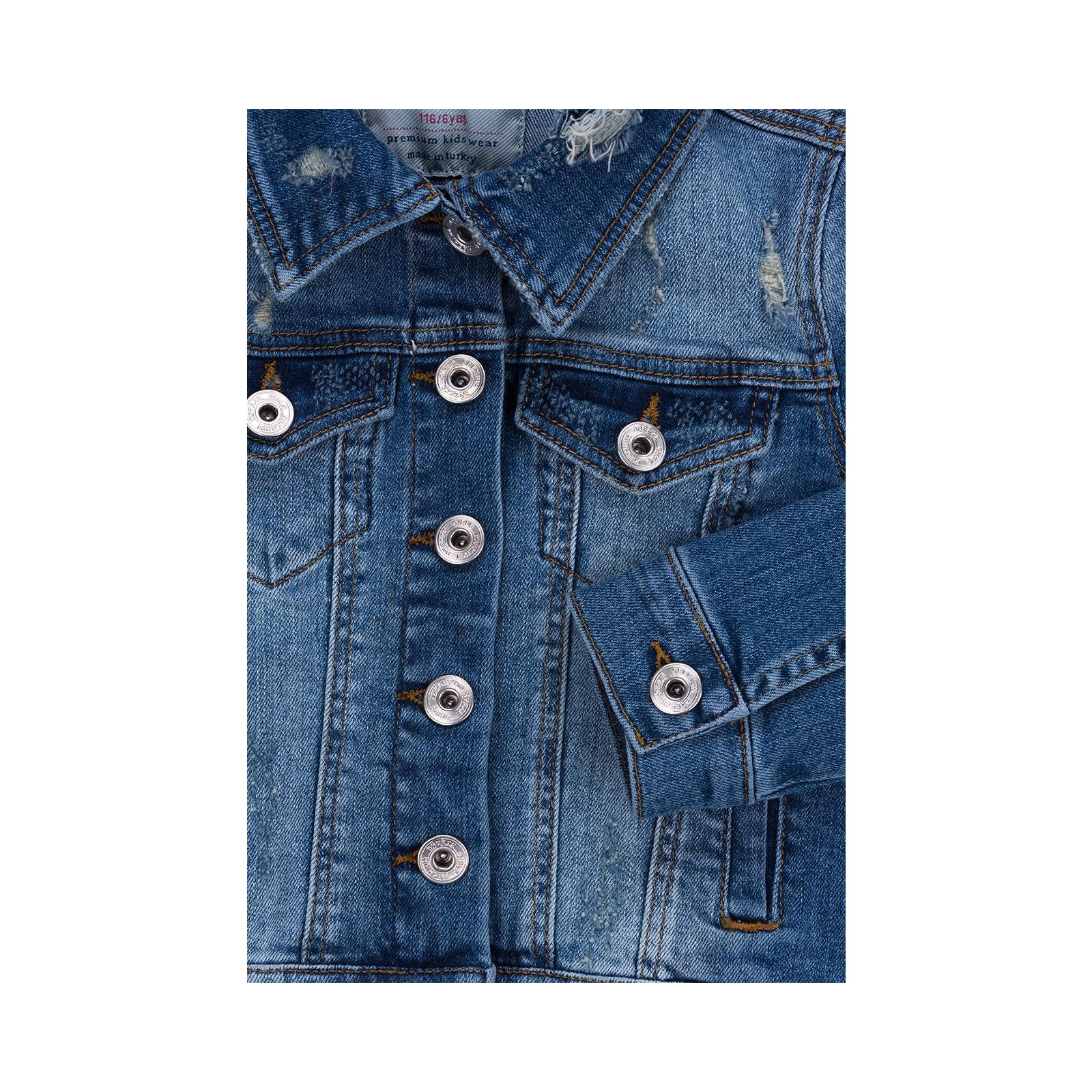 Куртка Breeze джинсовая укороченная (OZ-18801-134G-blue) изображение 4