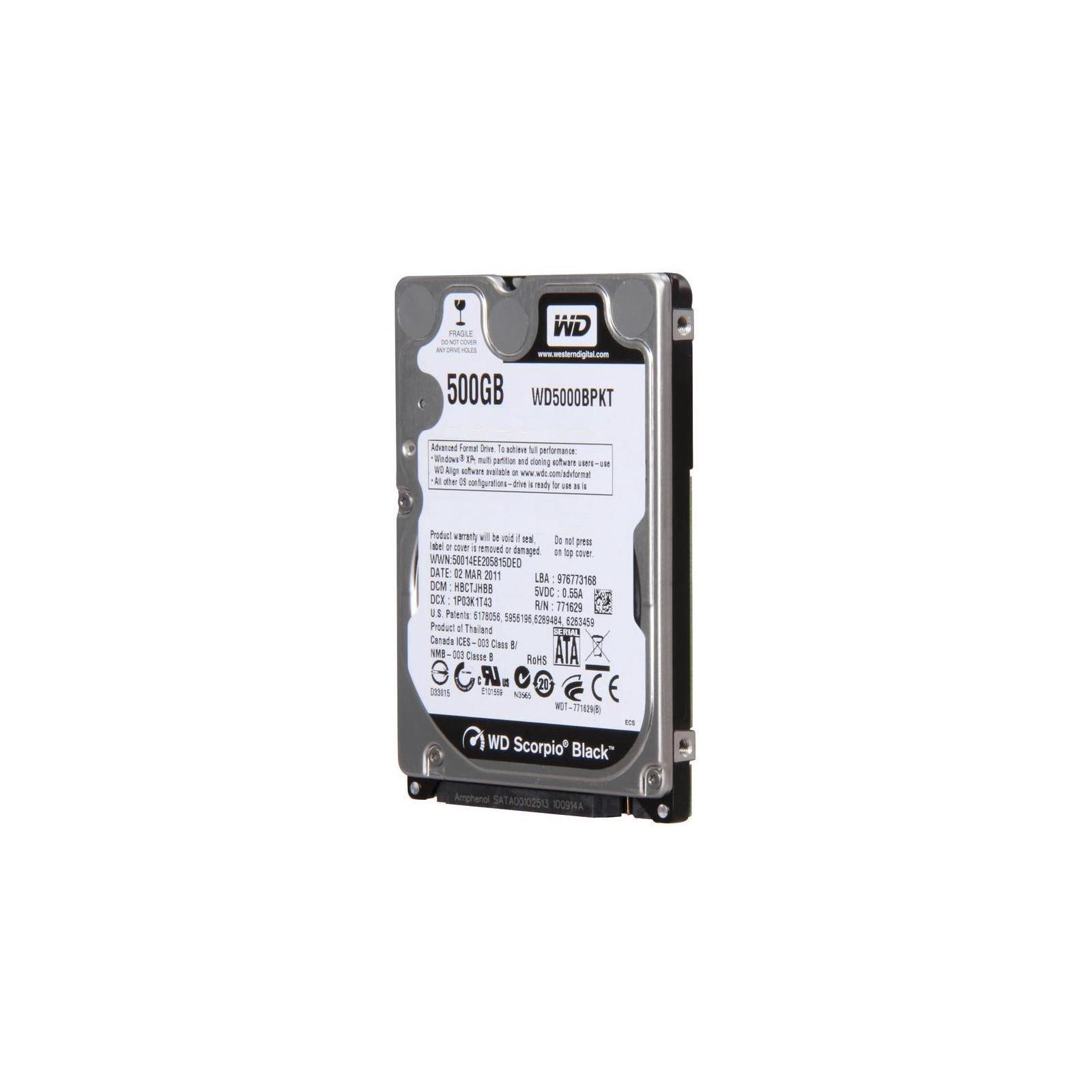 """Жесткий диск для ноутбука 2.5"""" 500GB WD (#WD5000BPKT-FR#) изображение 2"""