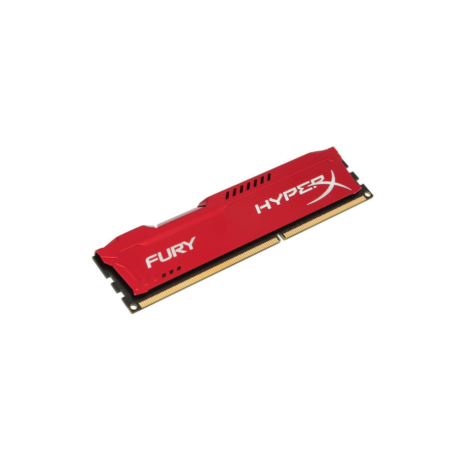Модуль памяти для компьютера DDR4 8GB 3466 MHz HyperX FURY Red HyperX (Kingston Fury) (HX434C19FR2/8) изображение 2