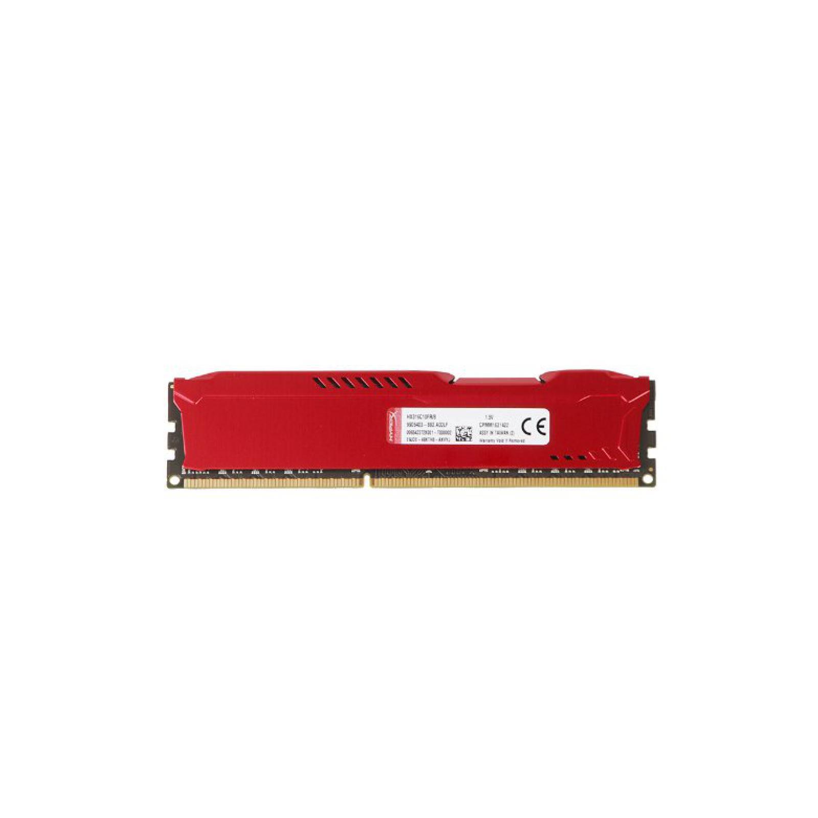 Модуль памяти для компьютера DDR4 8GB 3466 MHz HyperX FURY Red HyperX (Kingston Fury) (HX434C19FR2/8) изображение 4