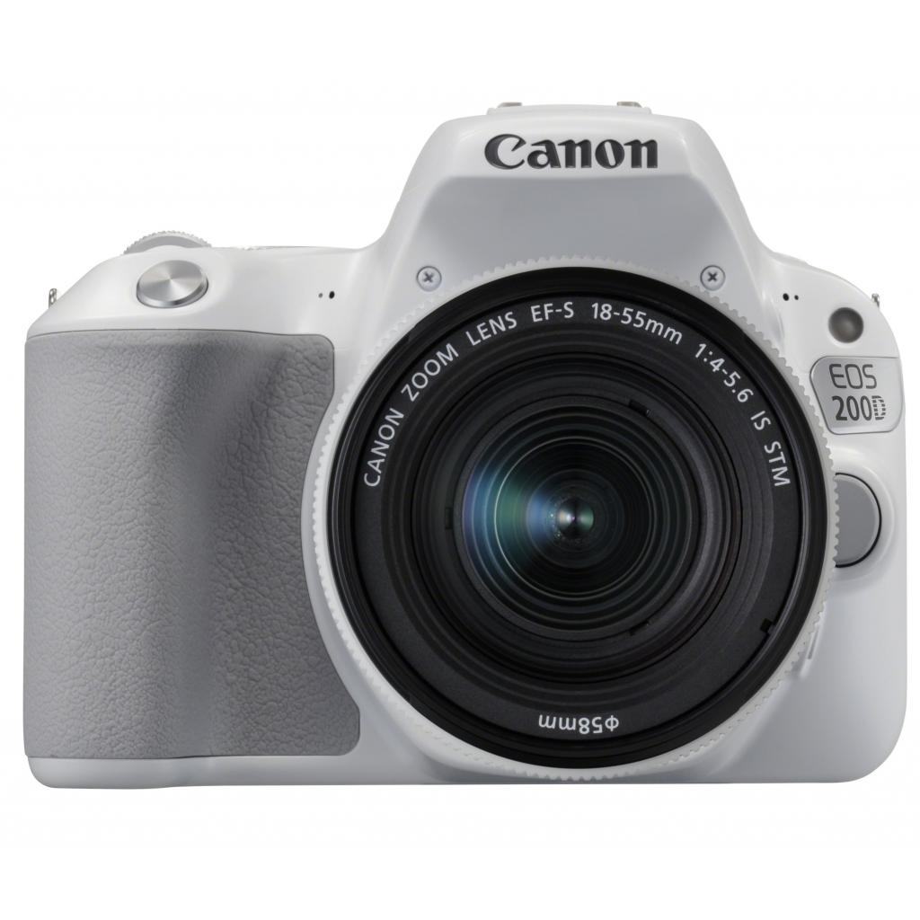 Цифровой фотоаппарат Canon EOS 200D 18-55 IS STM kit White (2253C007AA)