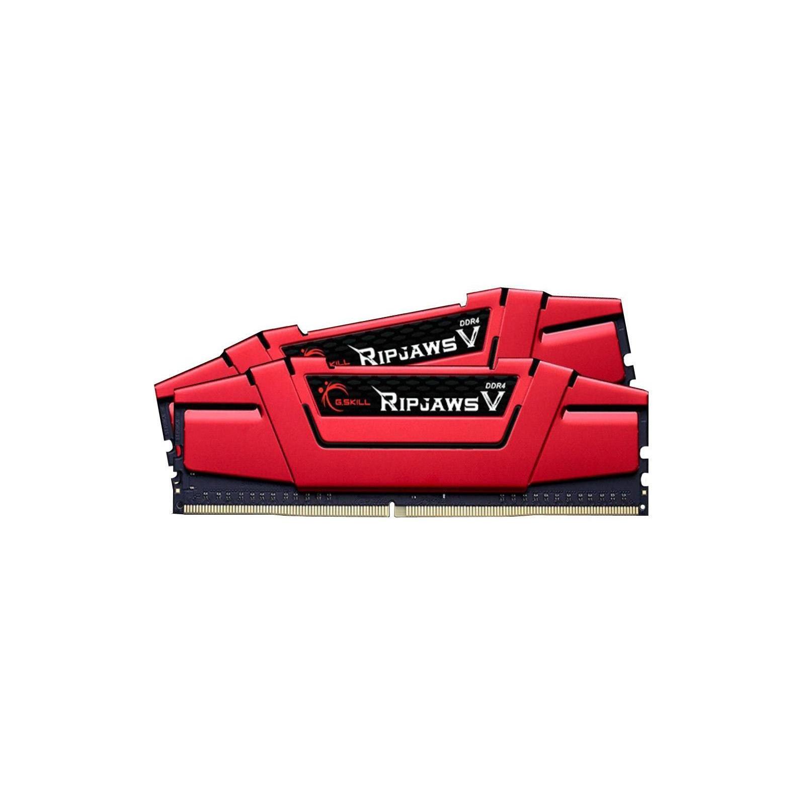 Модуль памяти для компьютера DDR4 8GB (2x4GB) 2666 MHz RIPJAWS V RED G.Skill (F4-2666C15D-8GVR) изображение 2