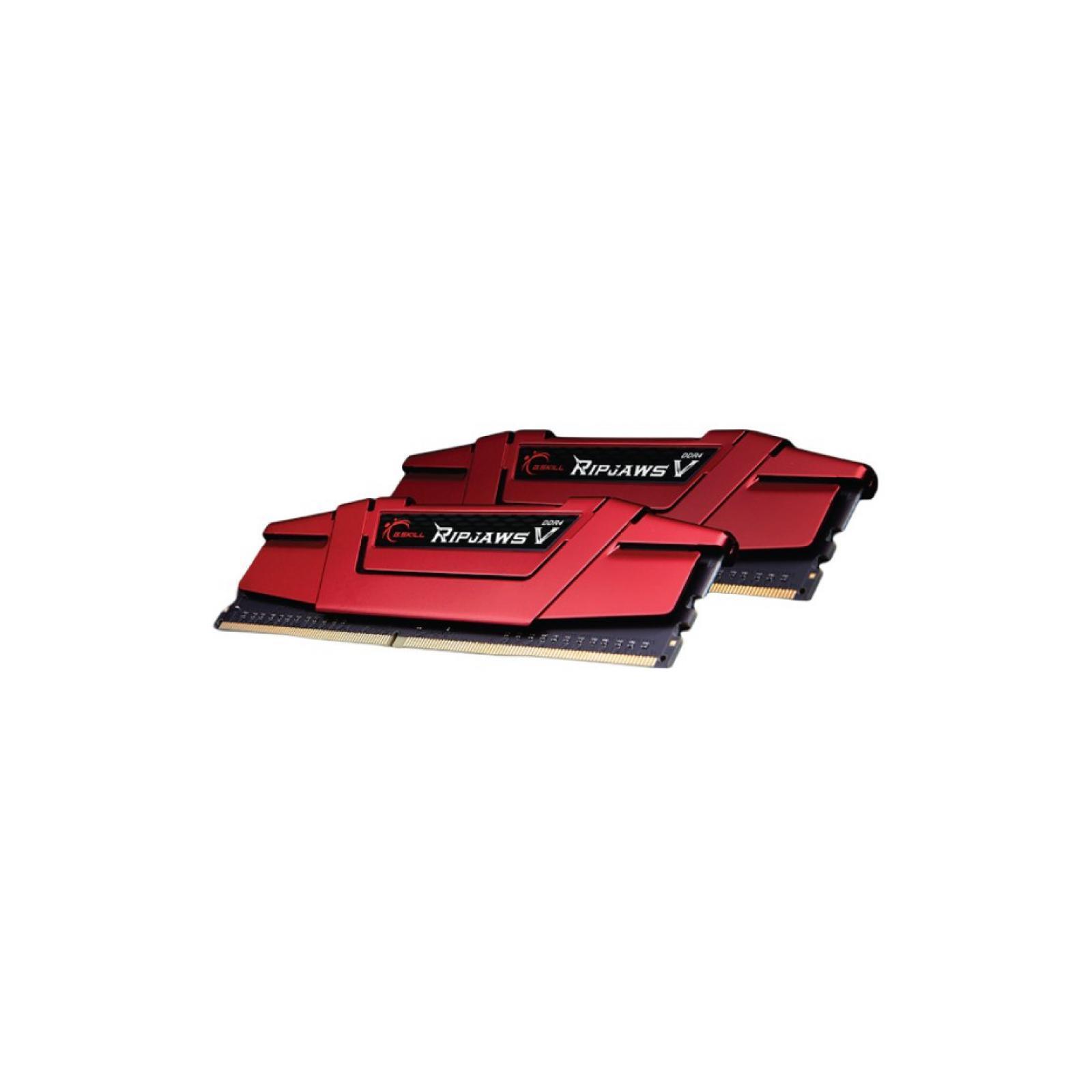 Модуль памяти для компьютера DDR4 8GB (2x4GB) 2666 MHz RIPJAWS V RED G.Skill (F4-2666C15D-8GVR) изображение 3
