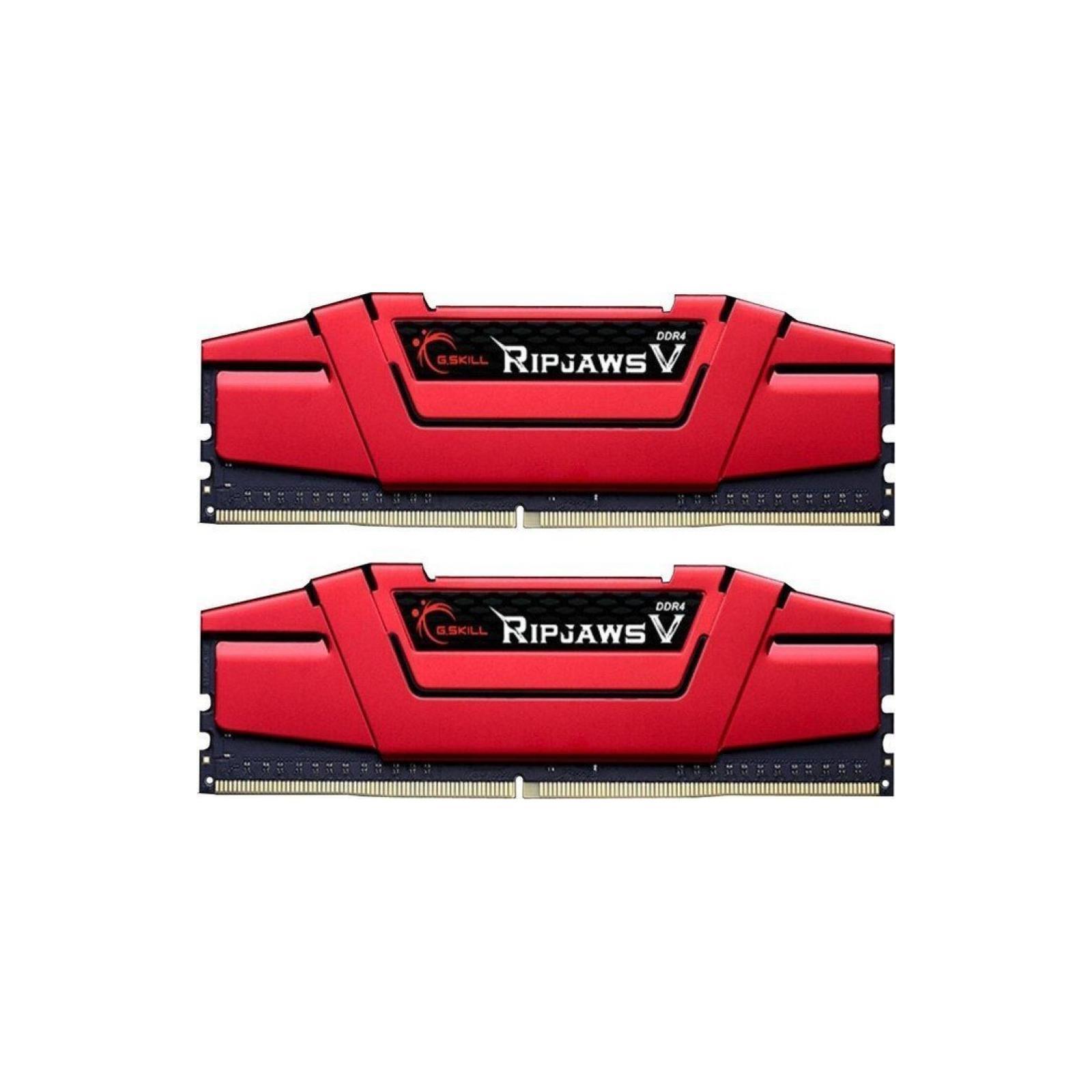Модуль памяти для компьютера DDR4 8GB (2x4GB) 2666 MHz RIPJAWS V RED G.Skill (F4-2666C15D-8GVR)