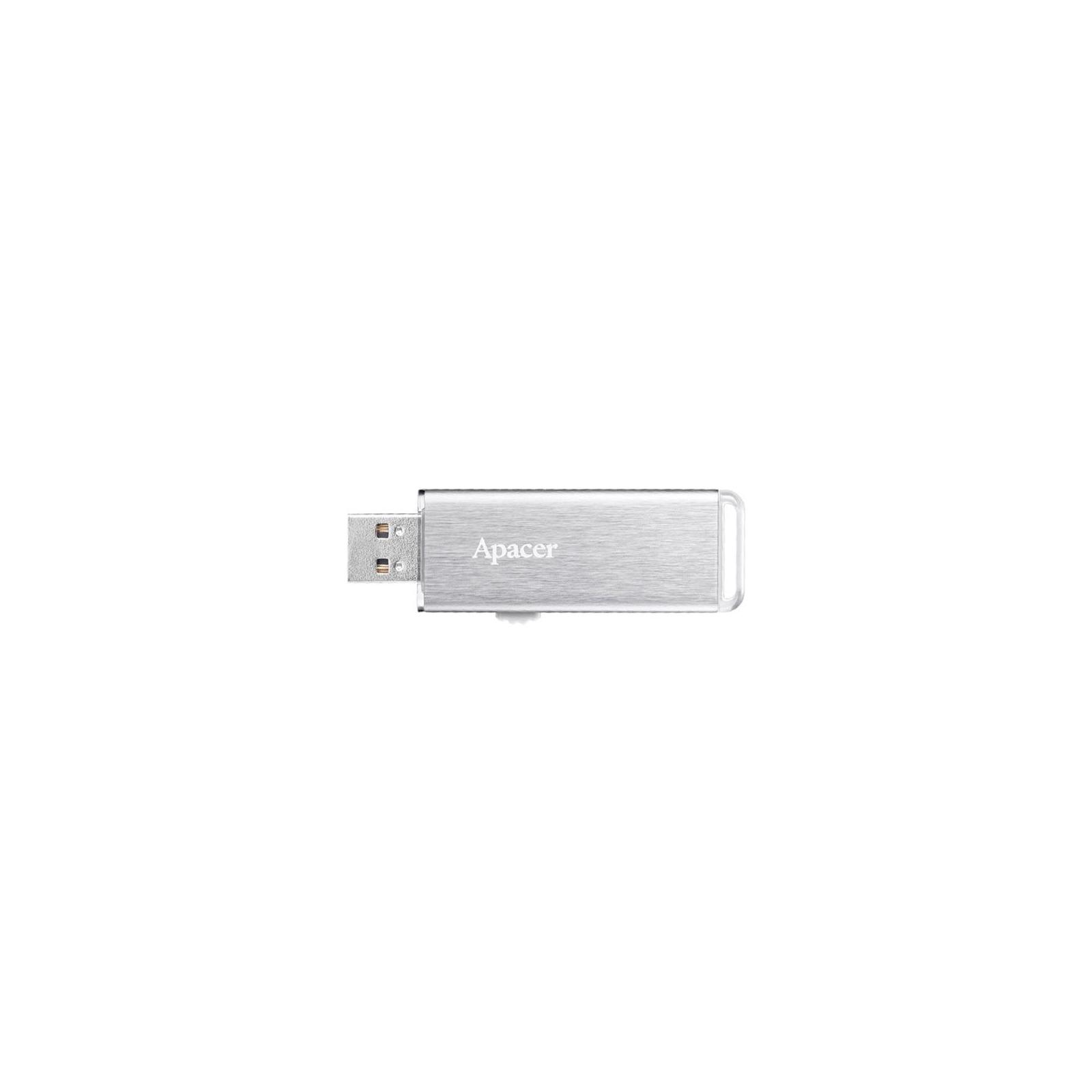 USB флеш накопитель Apacer 64GB AH33A Silver USB 2.0 (AP64GAH33AS-1) изображение 2