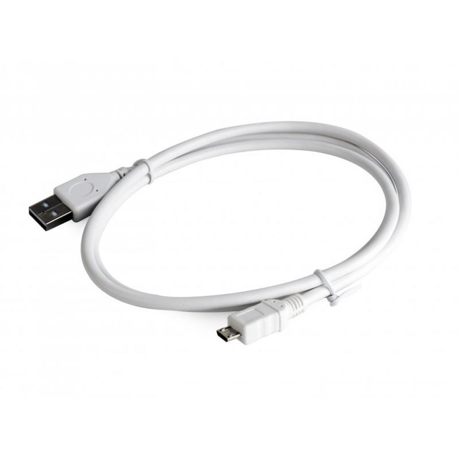 Дата кабель USB 2.0 AM to Micro 5P 0.1m Cablexpert (CCP-mUSB2-AMBM-W-0.1M) изображение 2