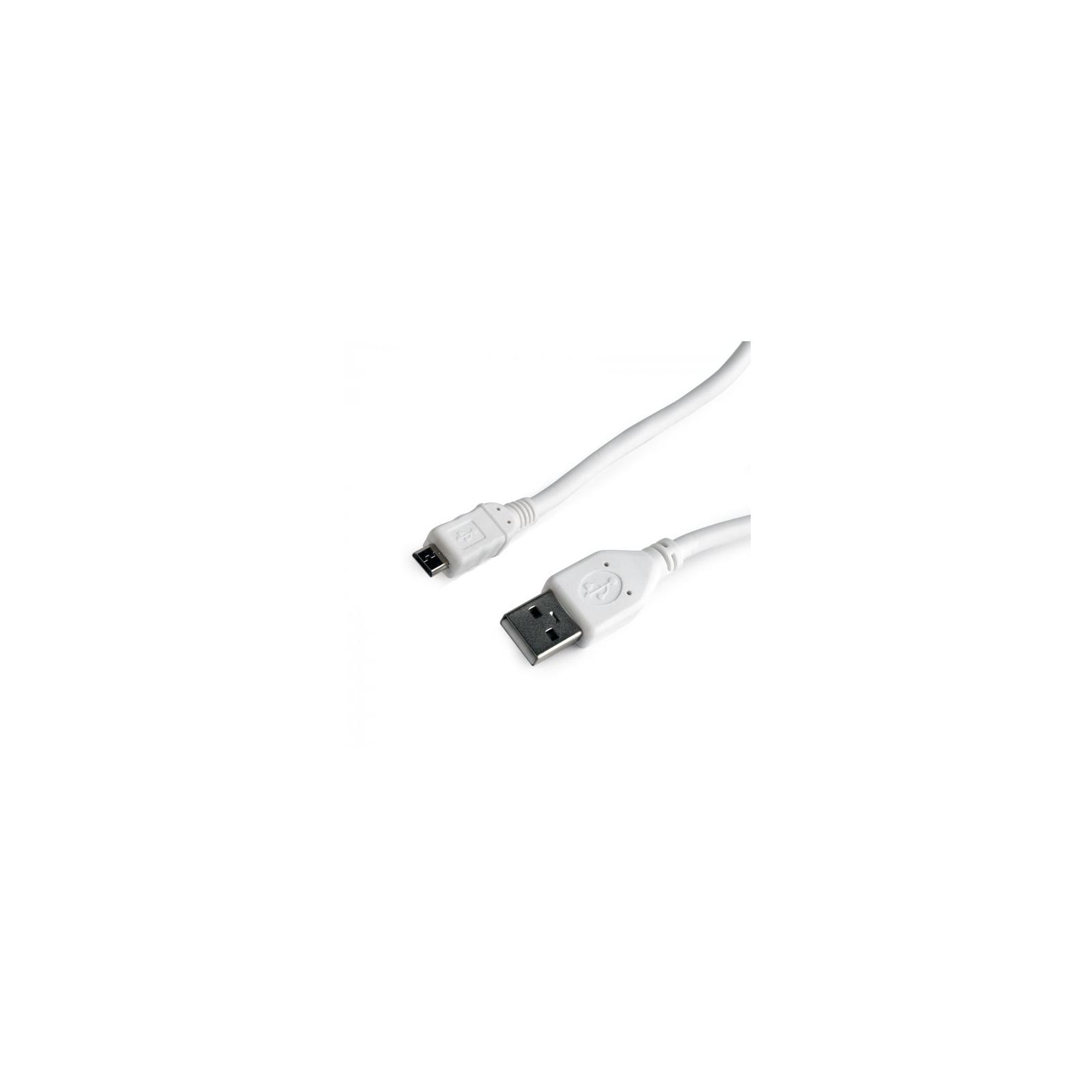 Дата кабель USB 2.0 AM to Micro 5P 0.1m Cablexpert (CCP-mUSB2-AMBM-W-0.1M)