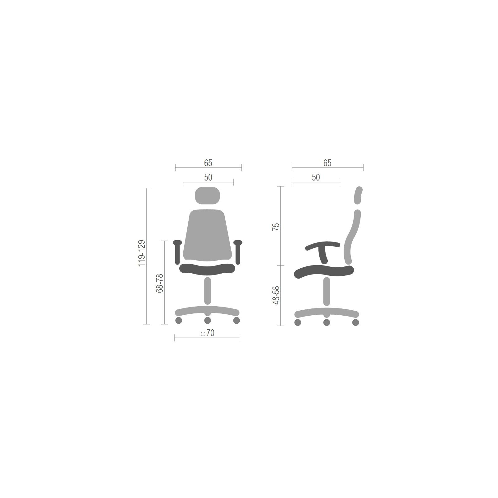 Офисное кресло Аклас Сити CH ANF Красное (15991) изображение 6