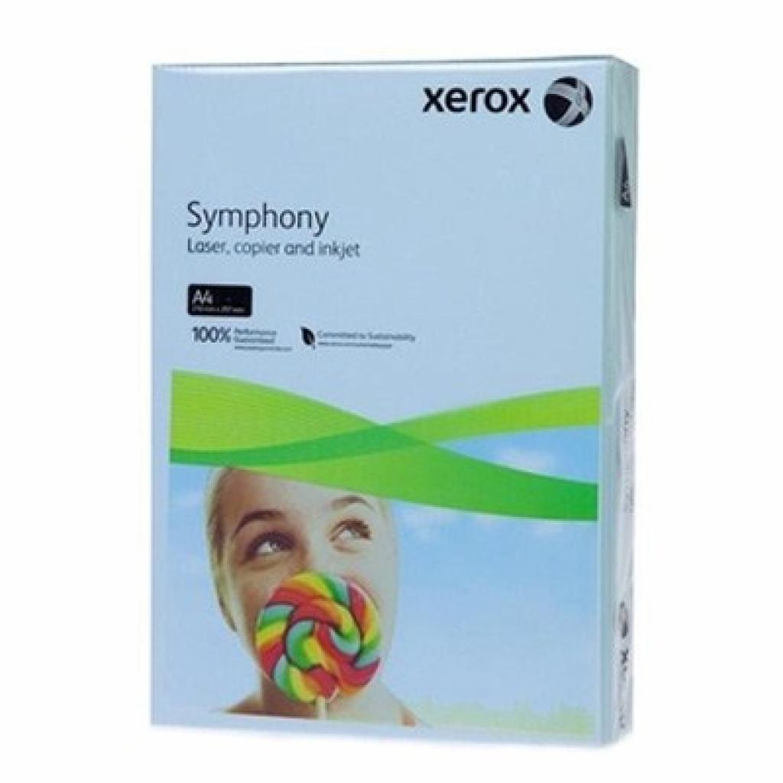 Бумага XEROX A4 SYMPHONY Mid Blue (003R93968)