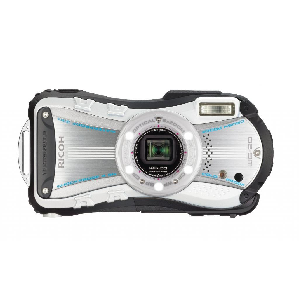 Цифровой фотоаппарат Ricoh WG-20 White-Black (08061) изображение 2