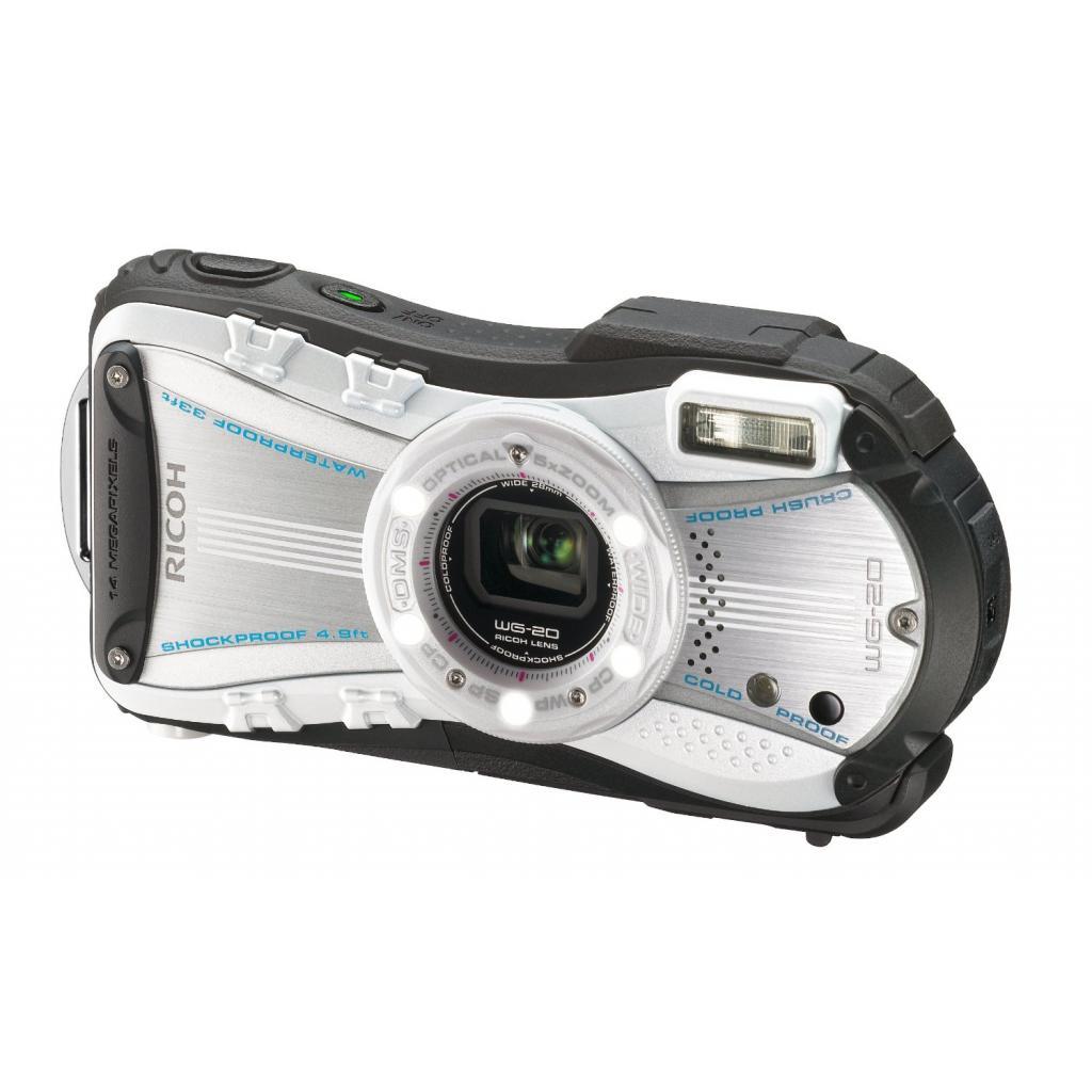 Цифровой фотоаппарат Ricoh WG-20 White-Black (08061)