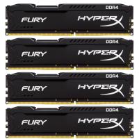 Модуль памяти для компьютера DDR4 32GB (4x8GB) 2133 MHz Fury Black Kingston (HX421C14FBK4/32)