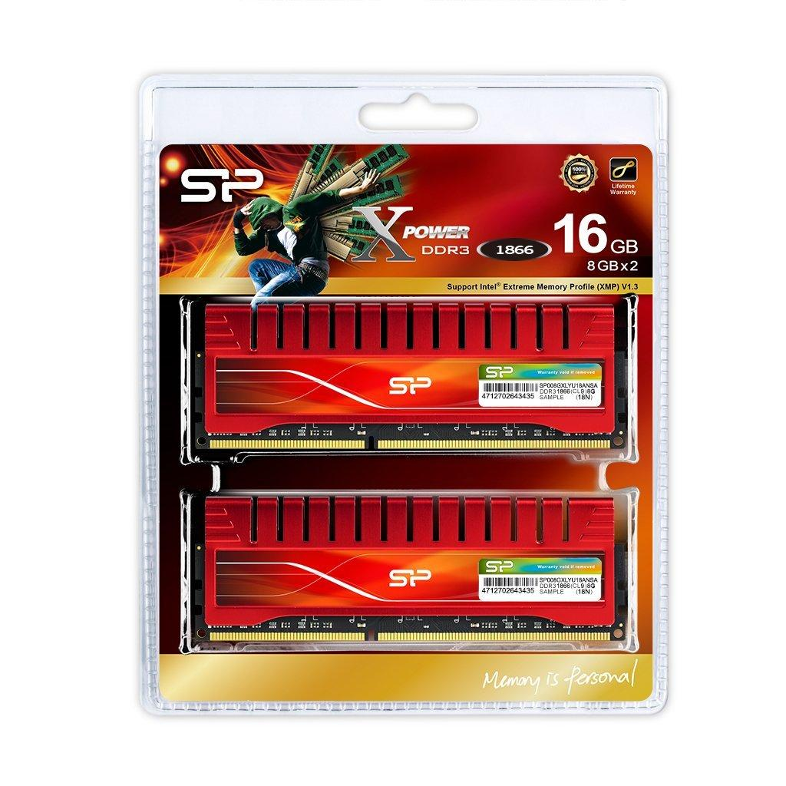 Модуль памяти для компьютера DDR3 16GB (2x8GB) 1866 MHz X-Power Silicon Power (SP016GXLYU18ANDA) изображение 3