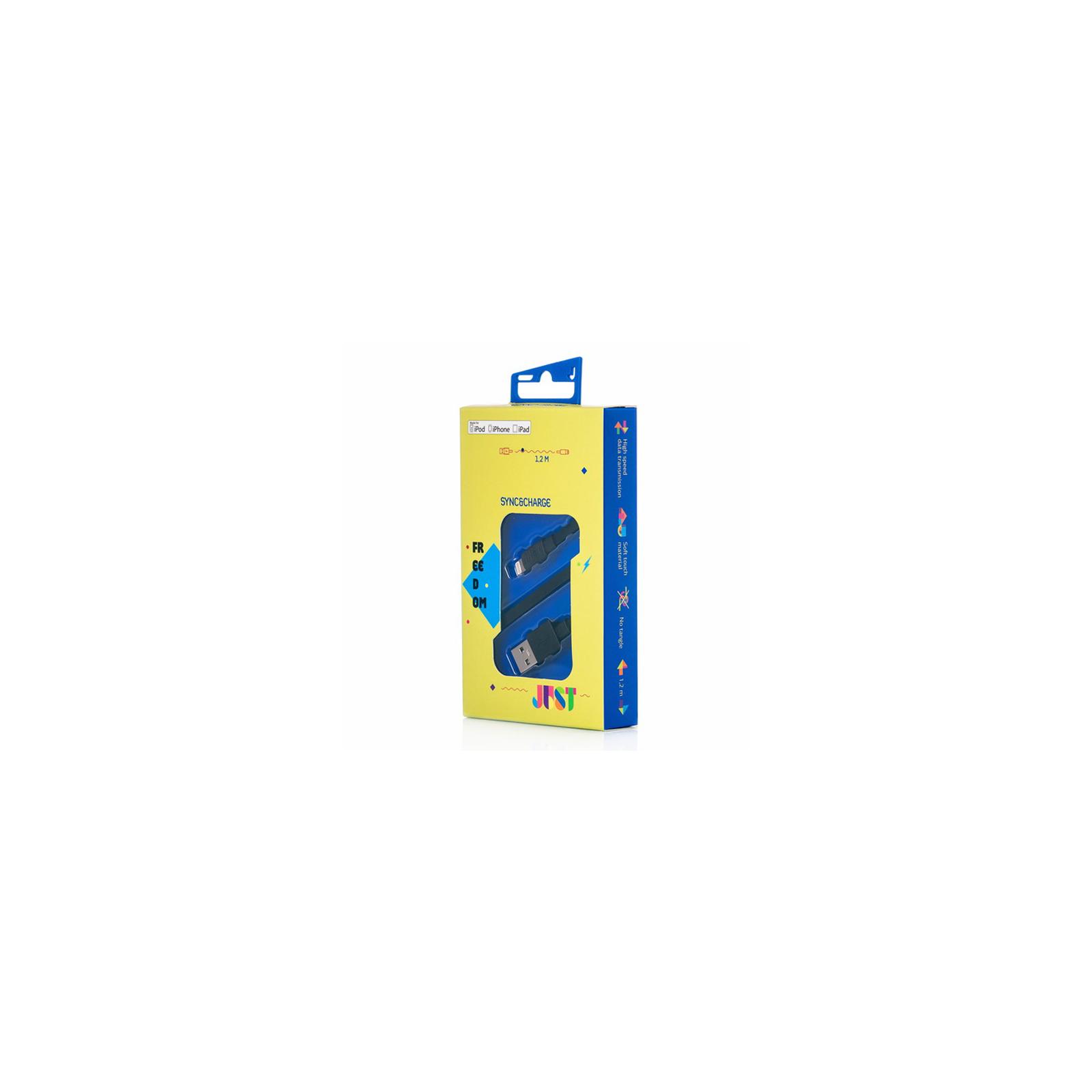 Дата кабель JUST Freedom Lightning USB Cable Black (LGTNG-FRDM-BLCK) изображение 3