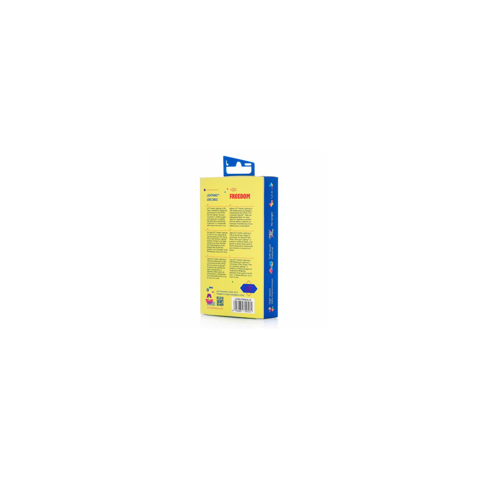 Дата кабель JUST Freedom Lightning USB Cable Black (LGTNG-FRDM-BLCK) изображение 4