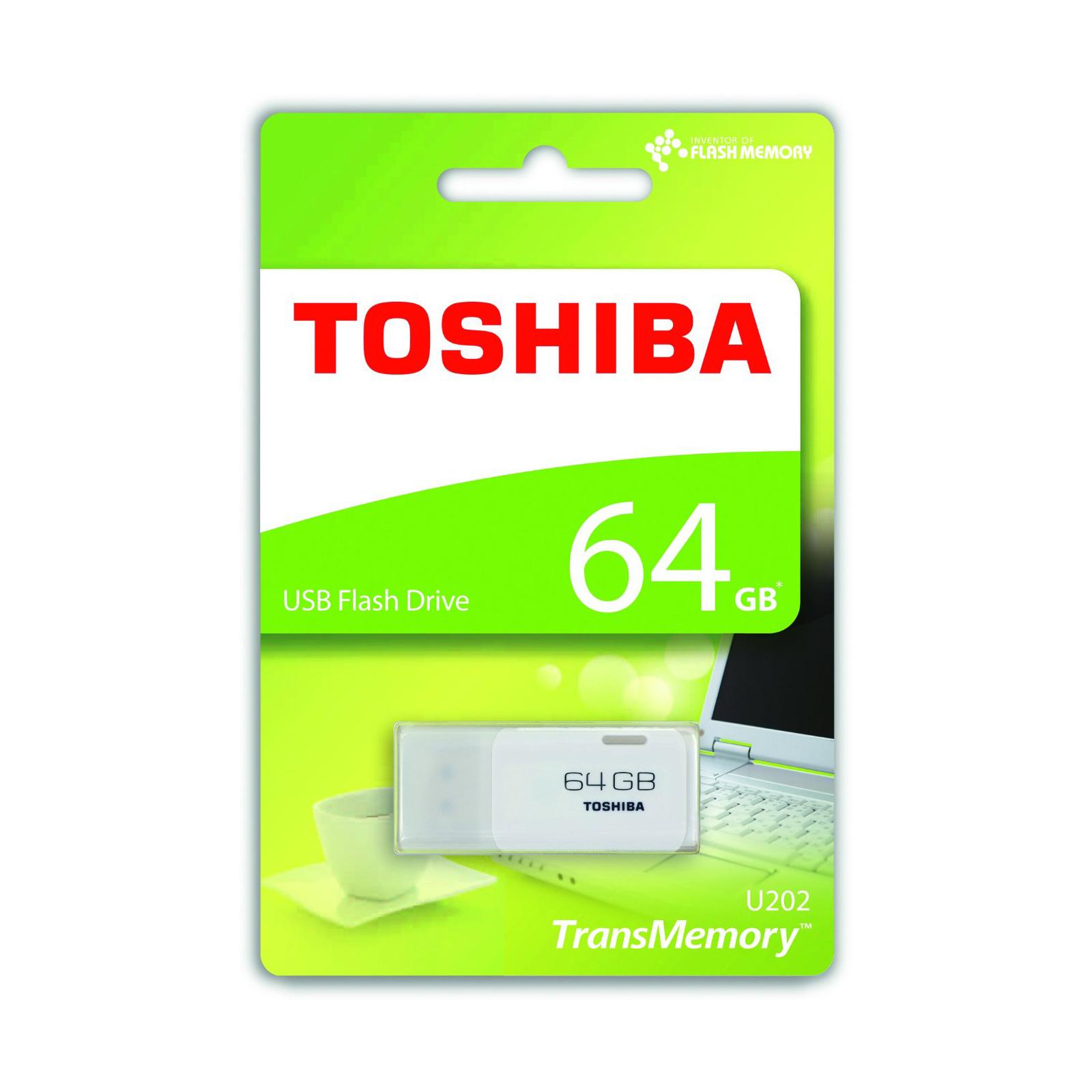 USB флеш накопитель TOSHIBA 64GB Hayabusa White USB 3.0 (THN-U202W0640E4) изображение 2