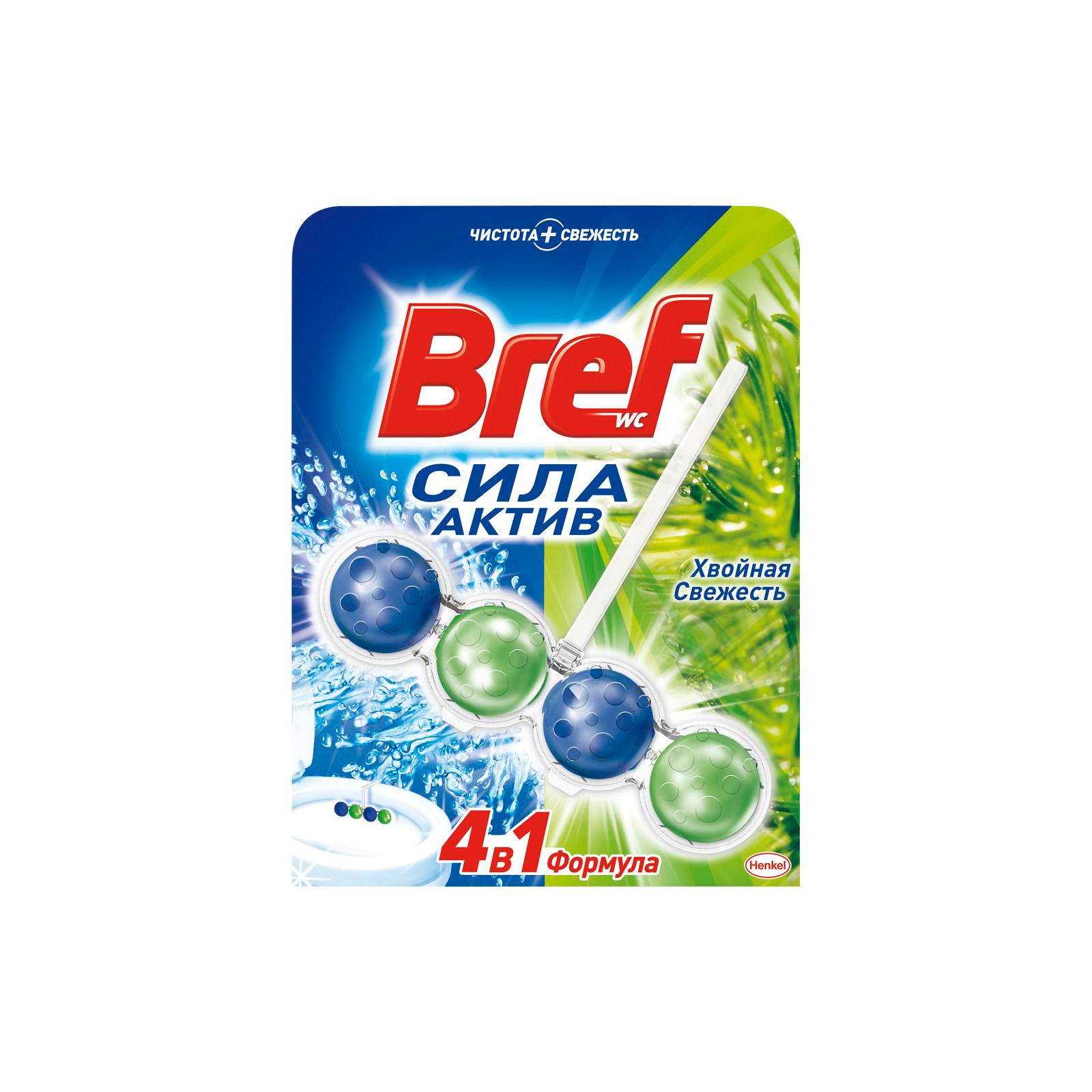 Туалетный блок Bref Сила Актив Хвойная свежесть 50 г (9000100625258)