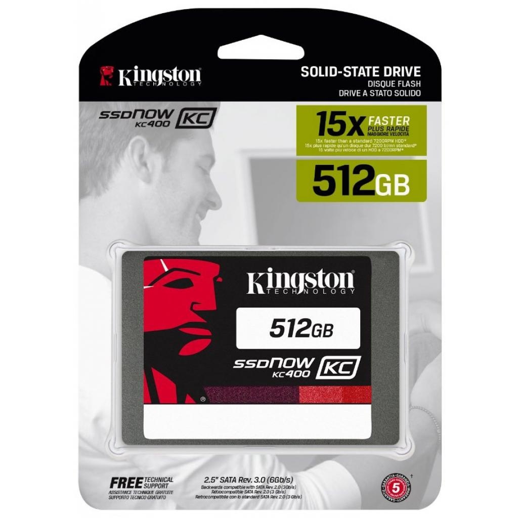 "Накопитель SSD 2.5"" 512GB Kingston (SKC400S37/512G) изображение 3"