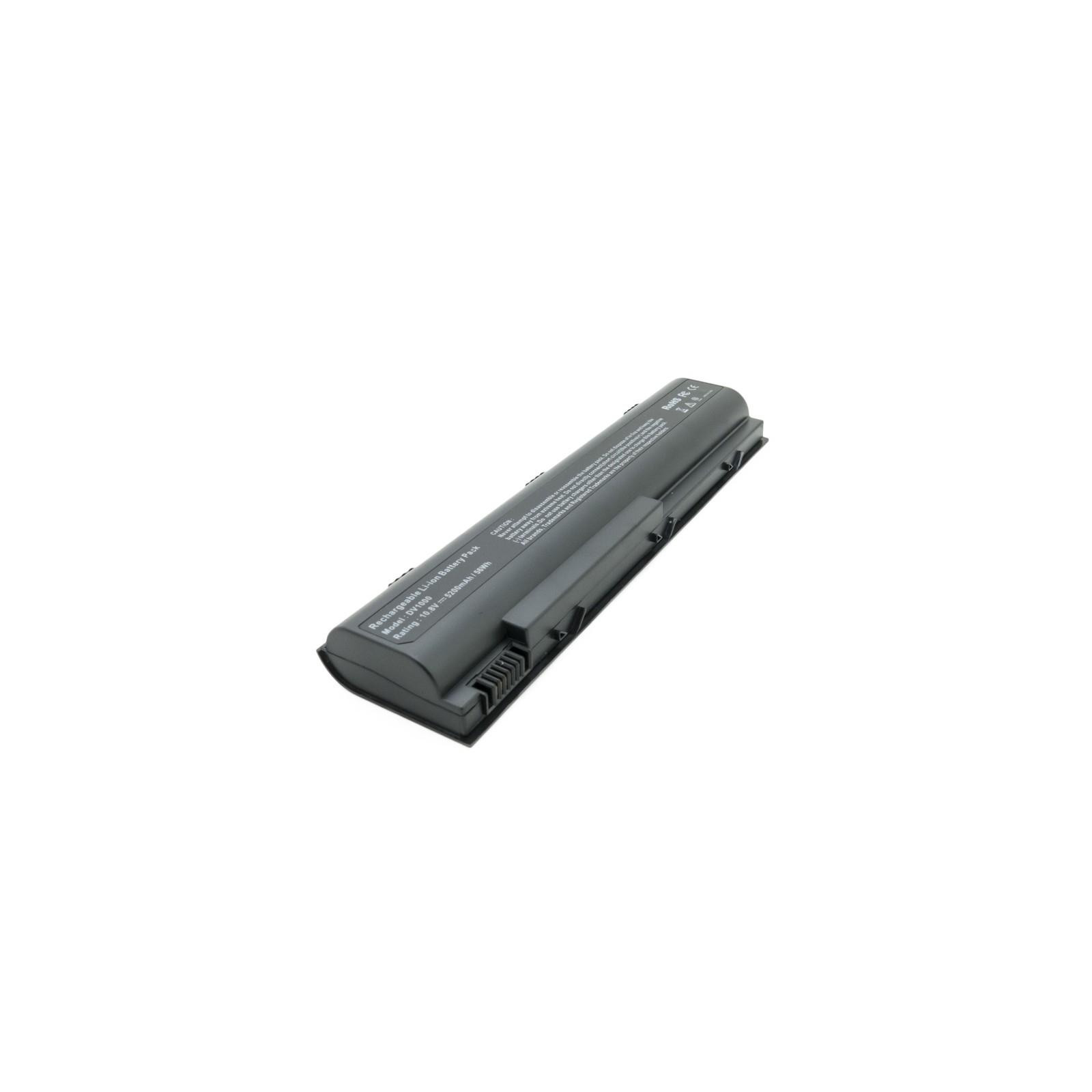 Аккумулятор для ноутбука HP Pavilion dv1000 (HSTNN-UB17) 5200 mAh EXTRADIGITAL (BNH3943) изображение 2