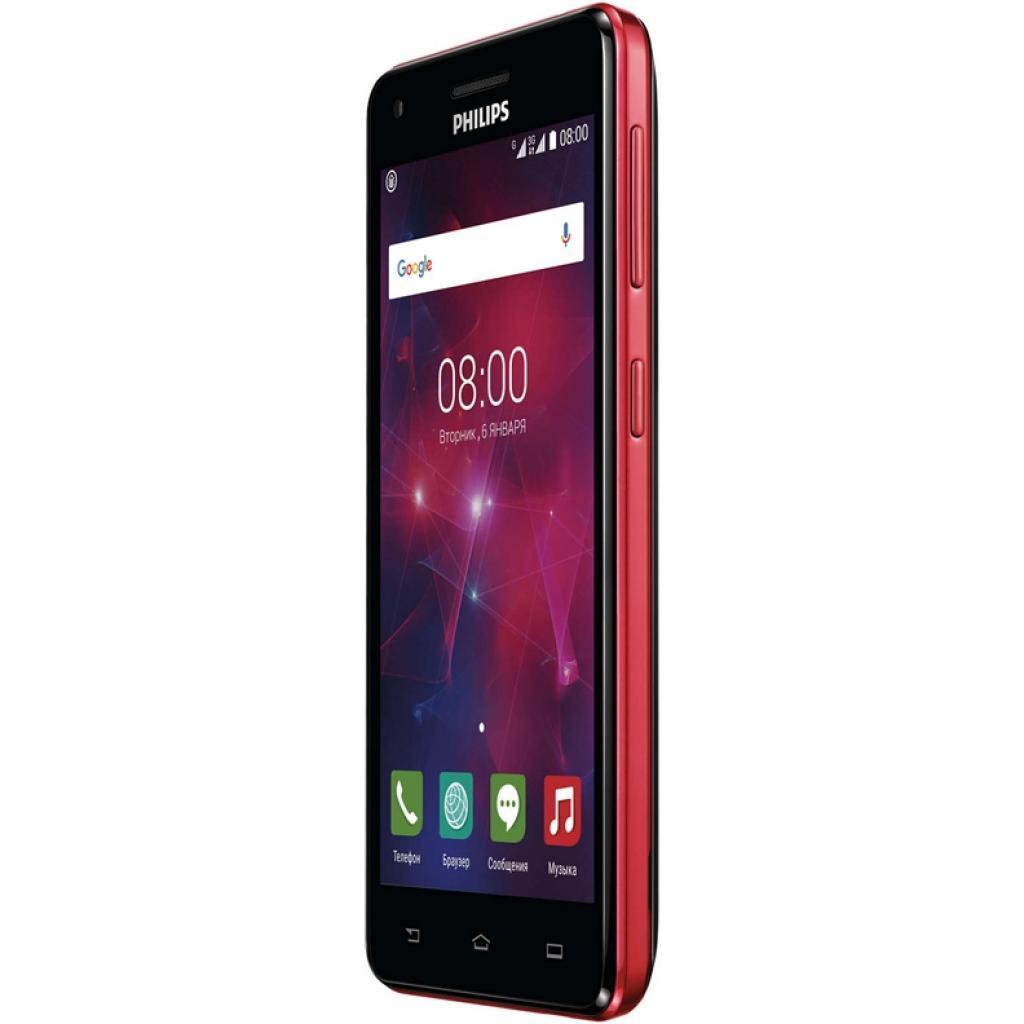 Мобильный телефон PHILIPS Xenium V377 Black Red (8712581737023) изображение 4