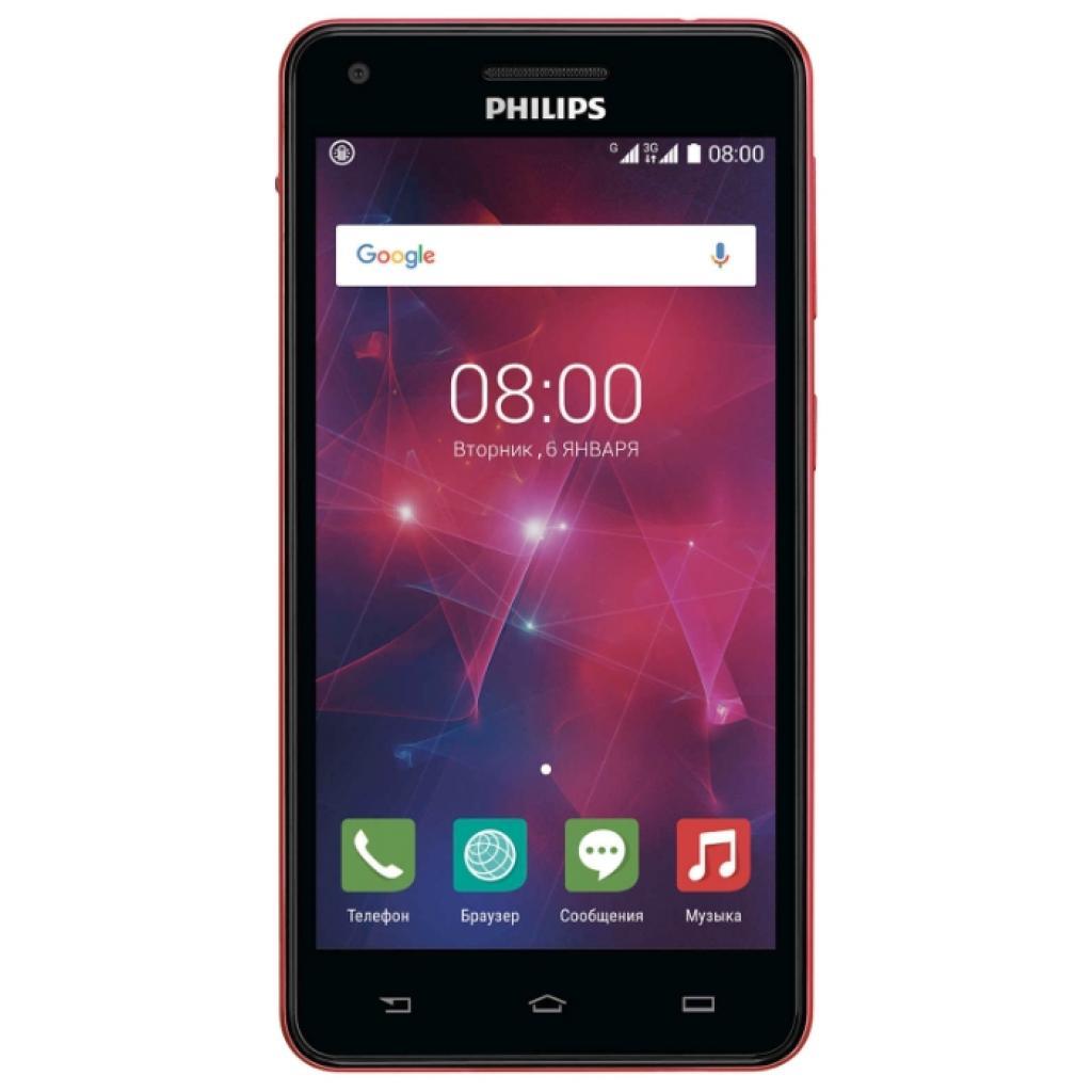 Мобильный телефон PHILIPS Xenium V377 Black Red (8712581737023)