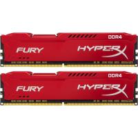Модуль пам'яті для комп'ютера DDR4 16GB (2x8GB) 2666 MHz HyperX FURY Red Kingston (HX426C16FR2K2/16)