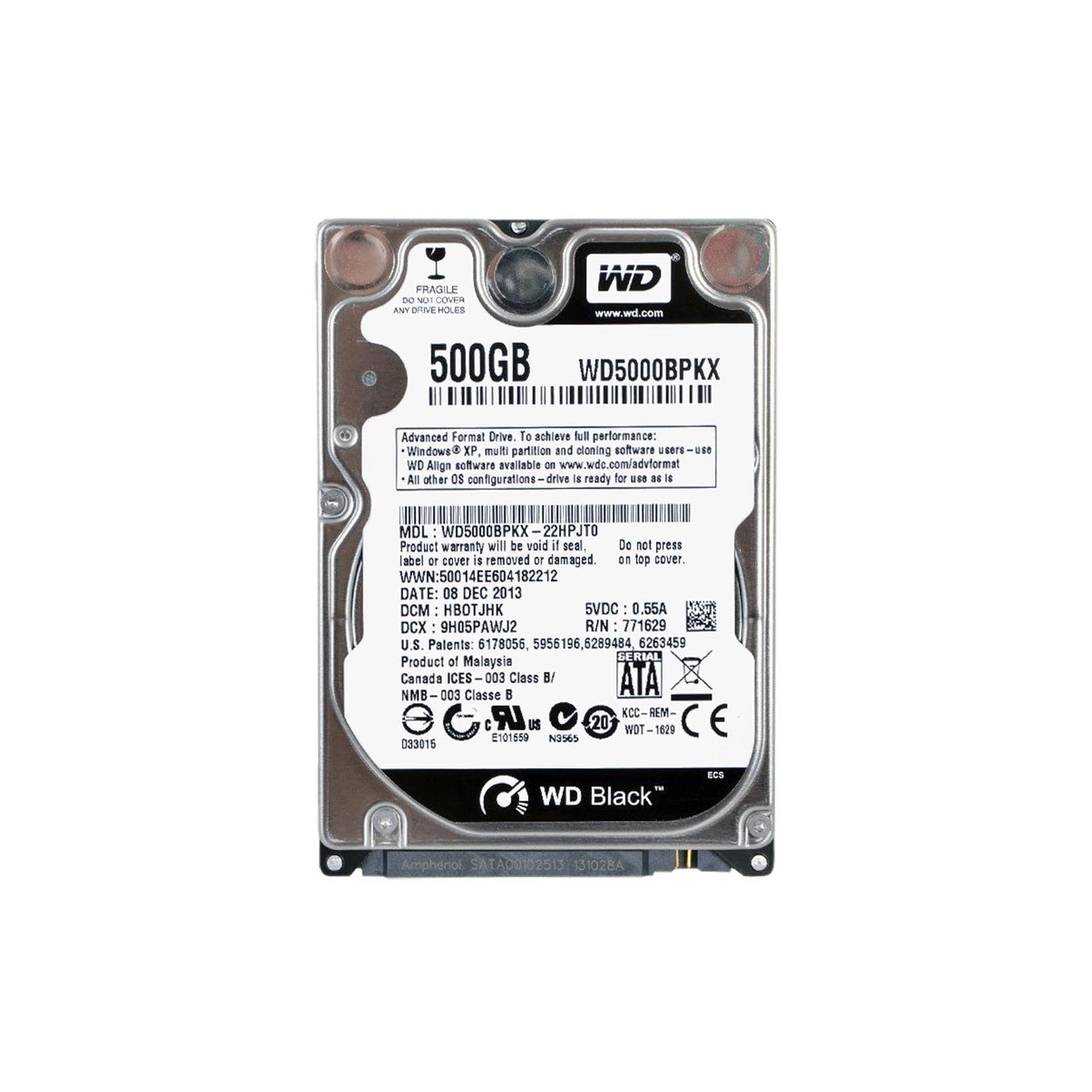 """Жесткий диск для ноутбука 2.5"""" 500GB WD (#WD5000BPKX-FR#)"""