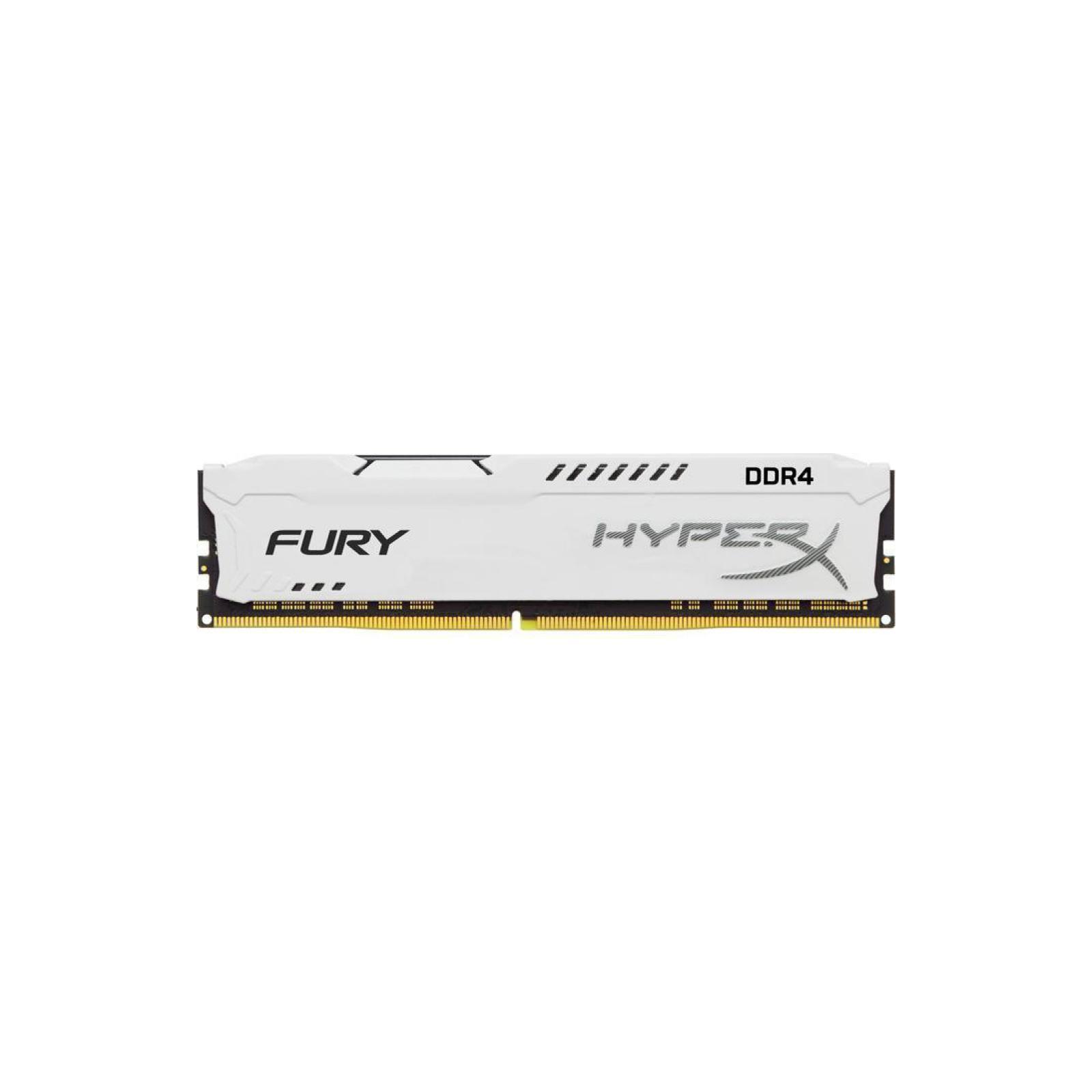 Модуль памяти для компьютера DDR4 8GB 3466 MHz HyperX FURY White HyperX (Kingston Fury) (HX434C19FW2/8)
